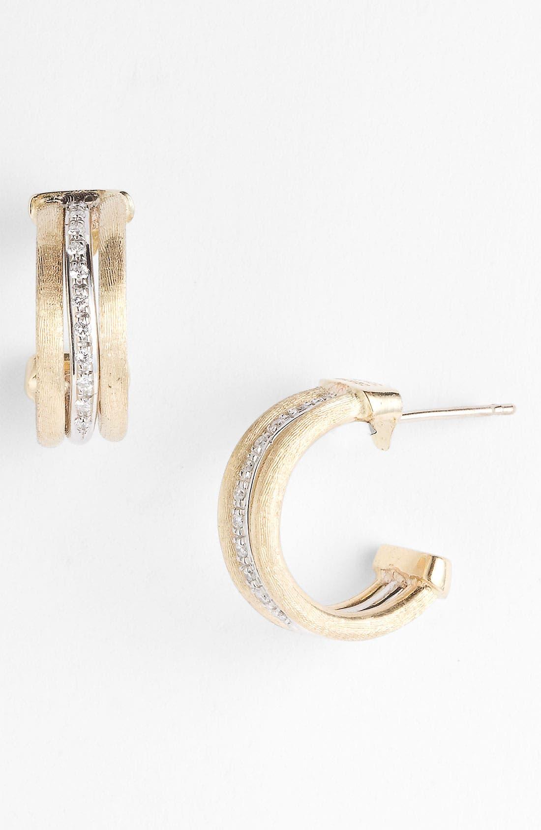 Alternate Image 1 Selected - Marco Bicego 'Jaipur' Diamond Hoop Earrings