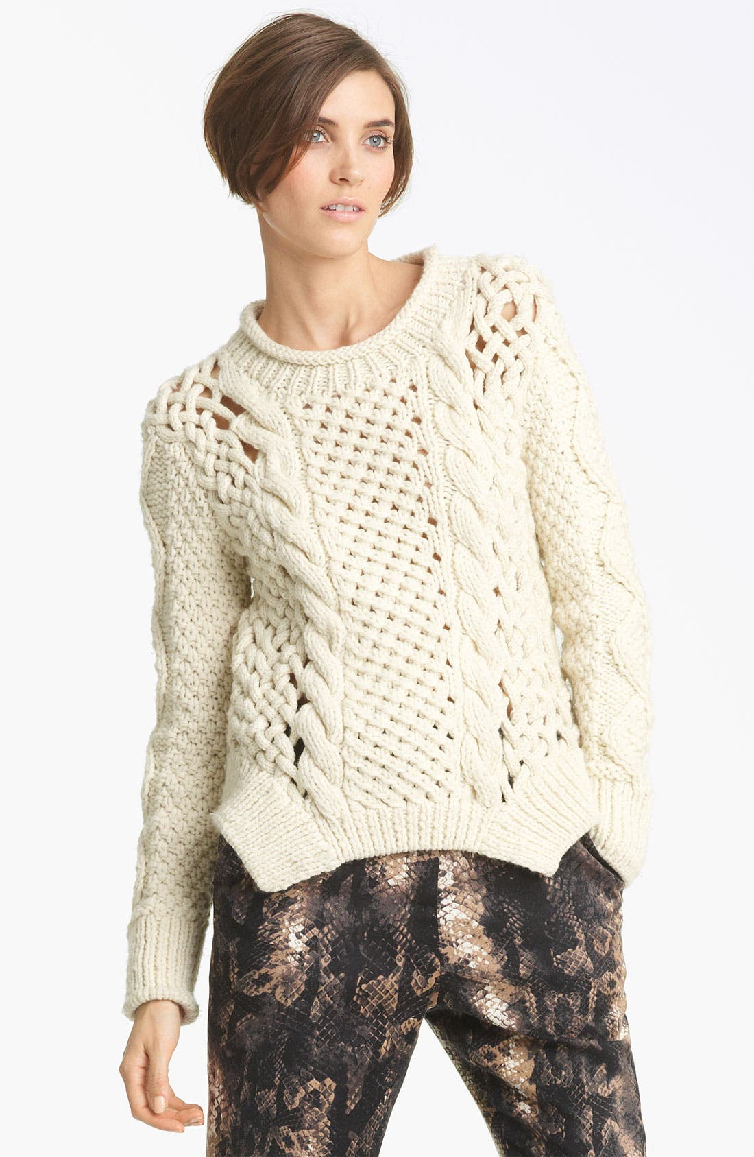 Alternate Image 1 Selected - Yigal Azrouël Duo Knit Sweater