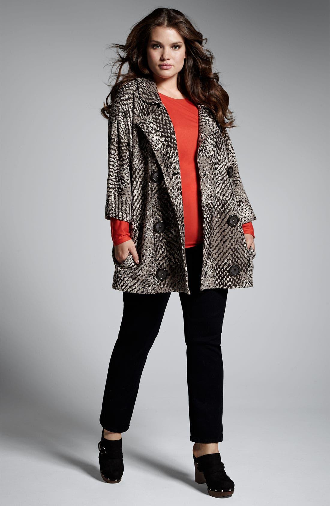 Alternate Image 5  - Nic + Zoe 'Textured Dots' Knit Jacket (Plus)