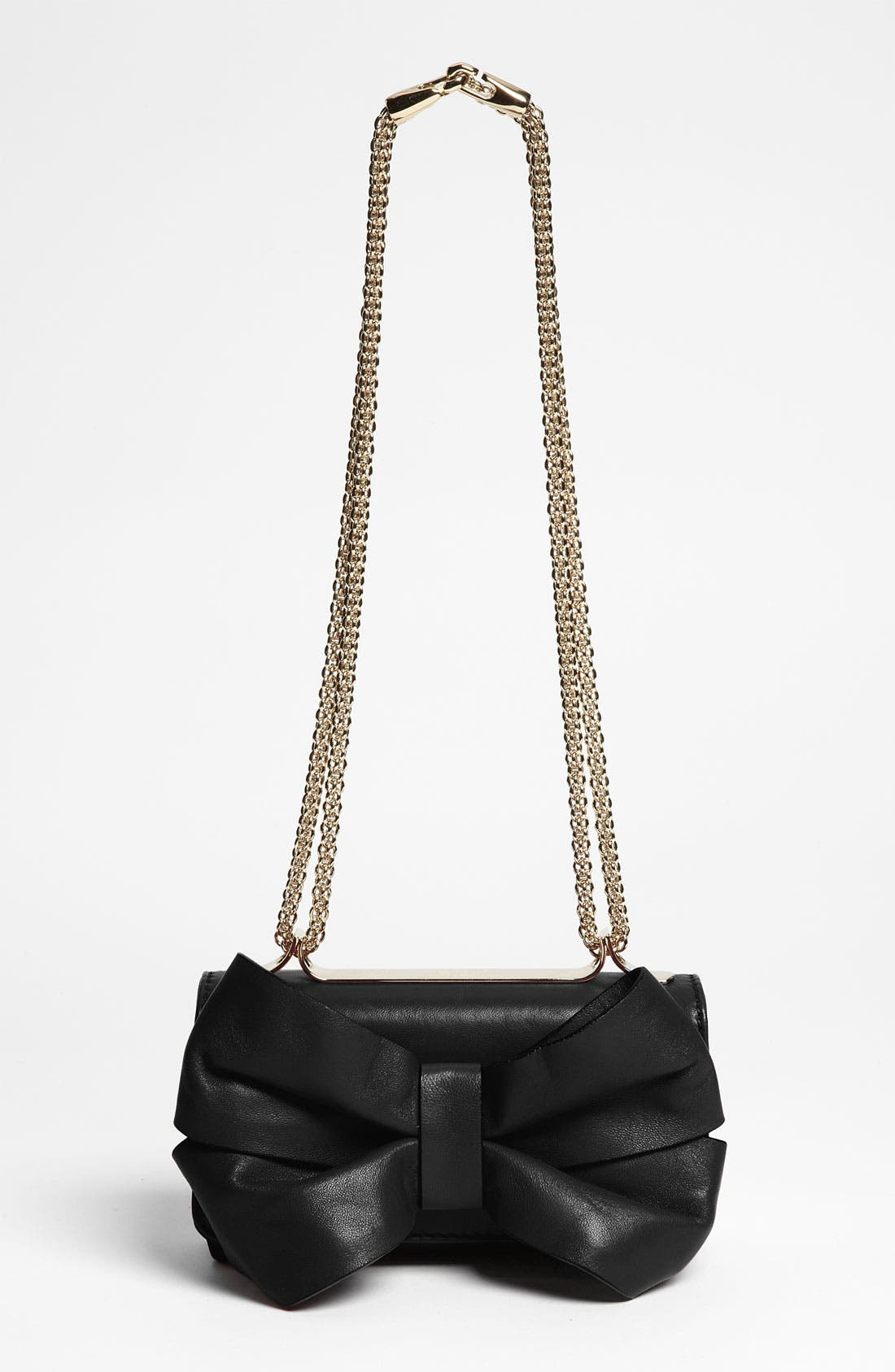 Main Image - Valentino 'Bow - Mini' Leather Shoulder Bag