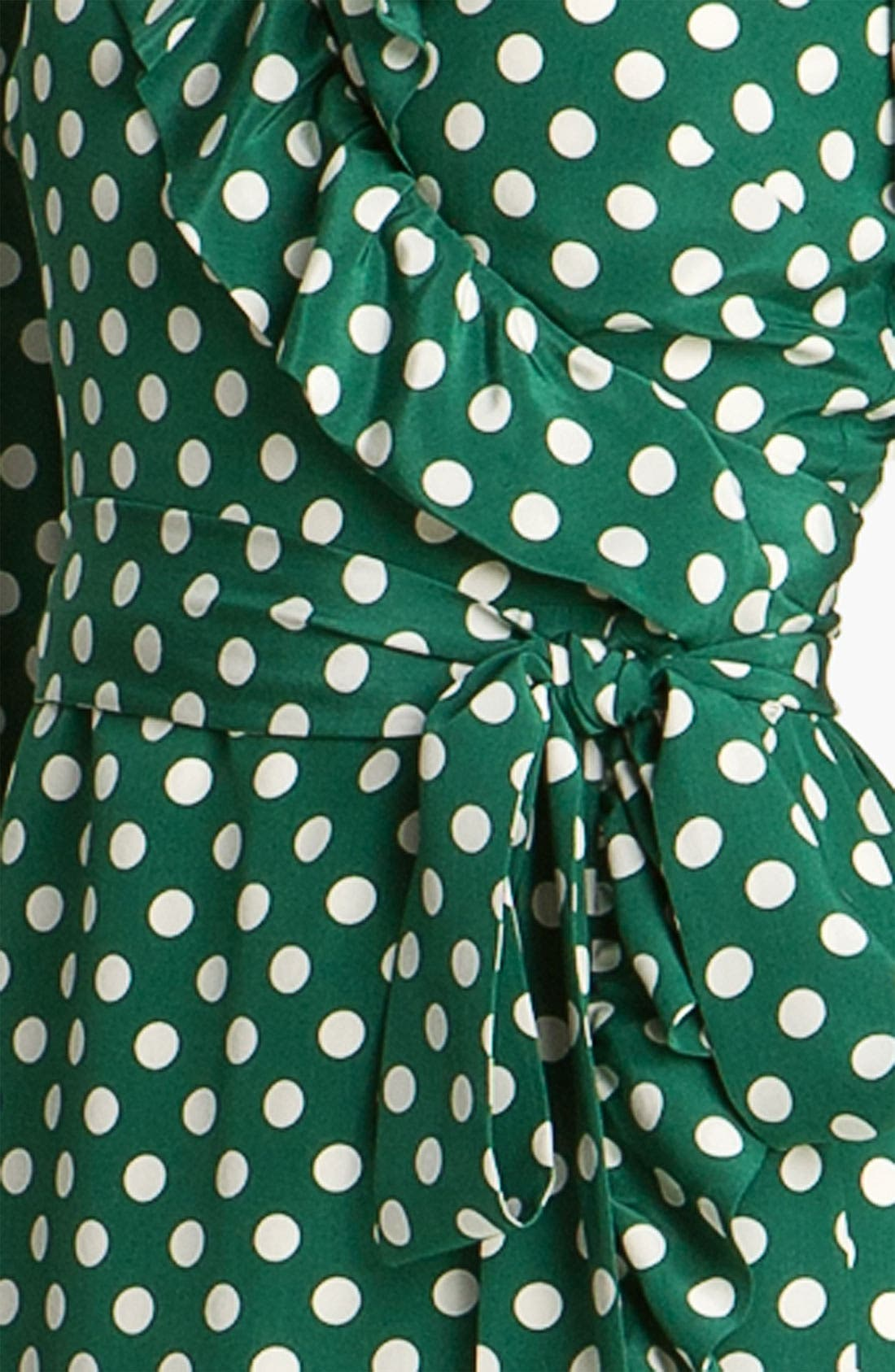 Alternate Image 3  - kate spade new york 'daniella' polka dot silk wrap dress