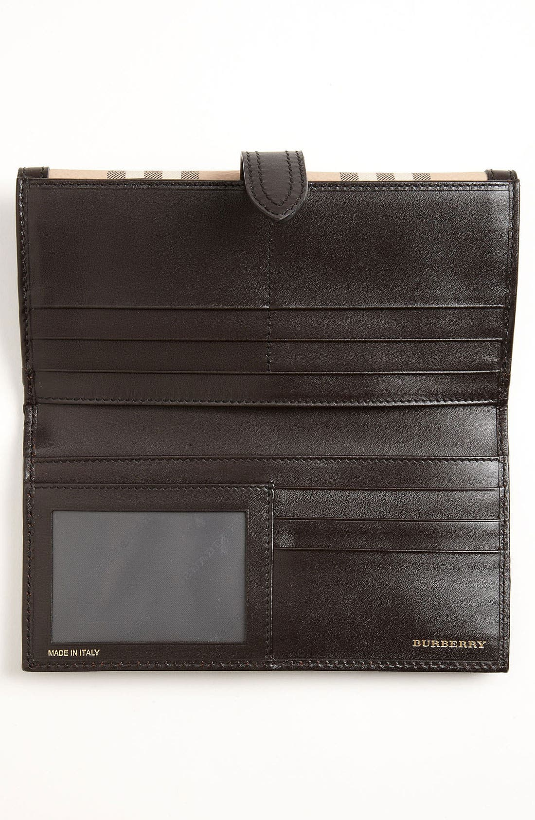 Alternate Image 3  - Burberry 'Haymarket Check' Checkbook Wallet