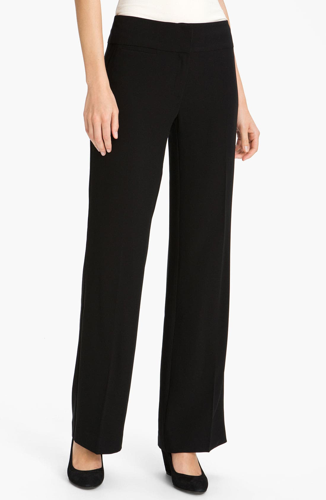 Alternate Image 1 Selected - Eileen Fisher Wide Leg Tropical Weight Trousers (Online Exclusive)