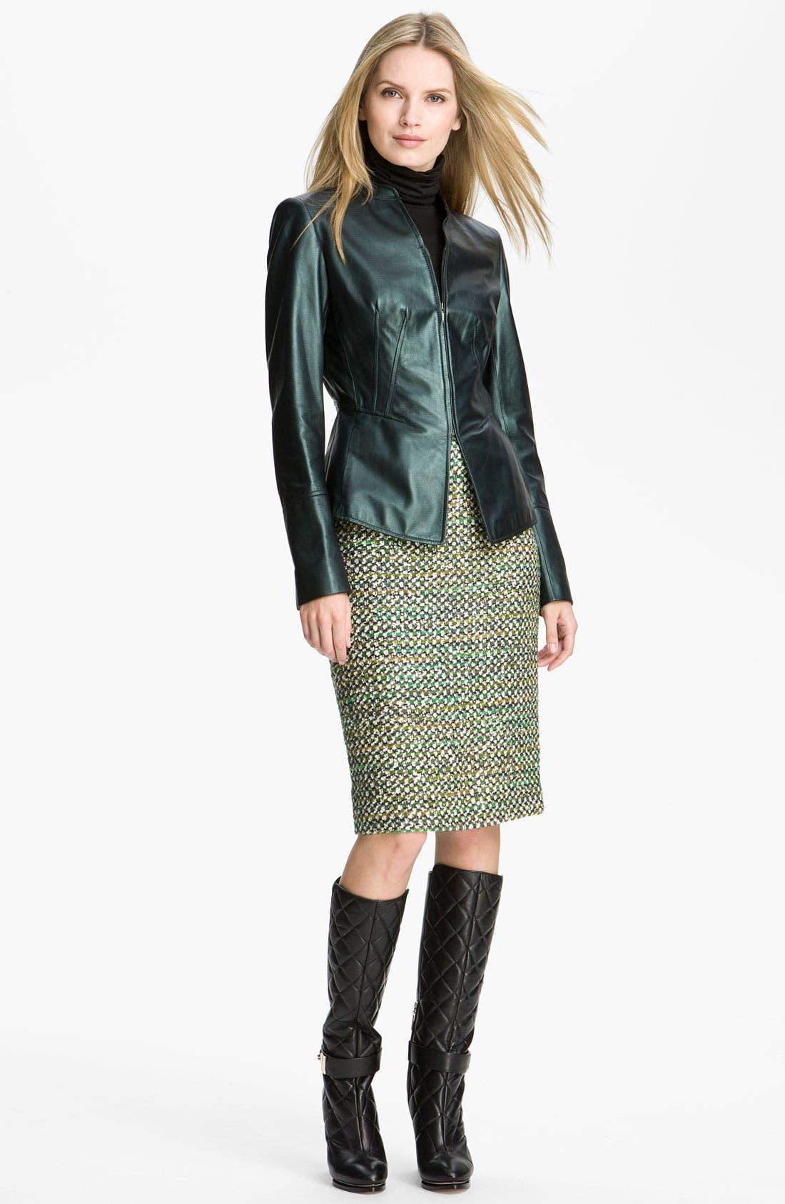 Alternate Image 4  - Lafayette 148 New York Pearlized Leather Jacket