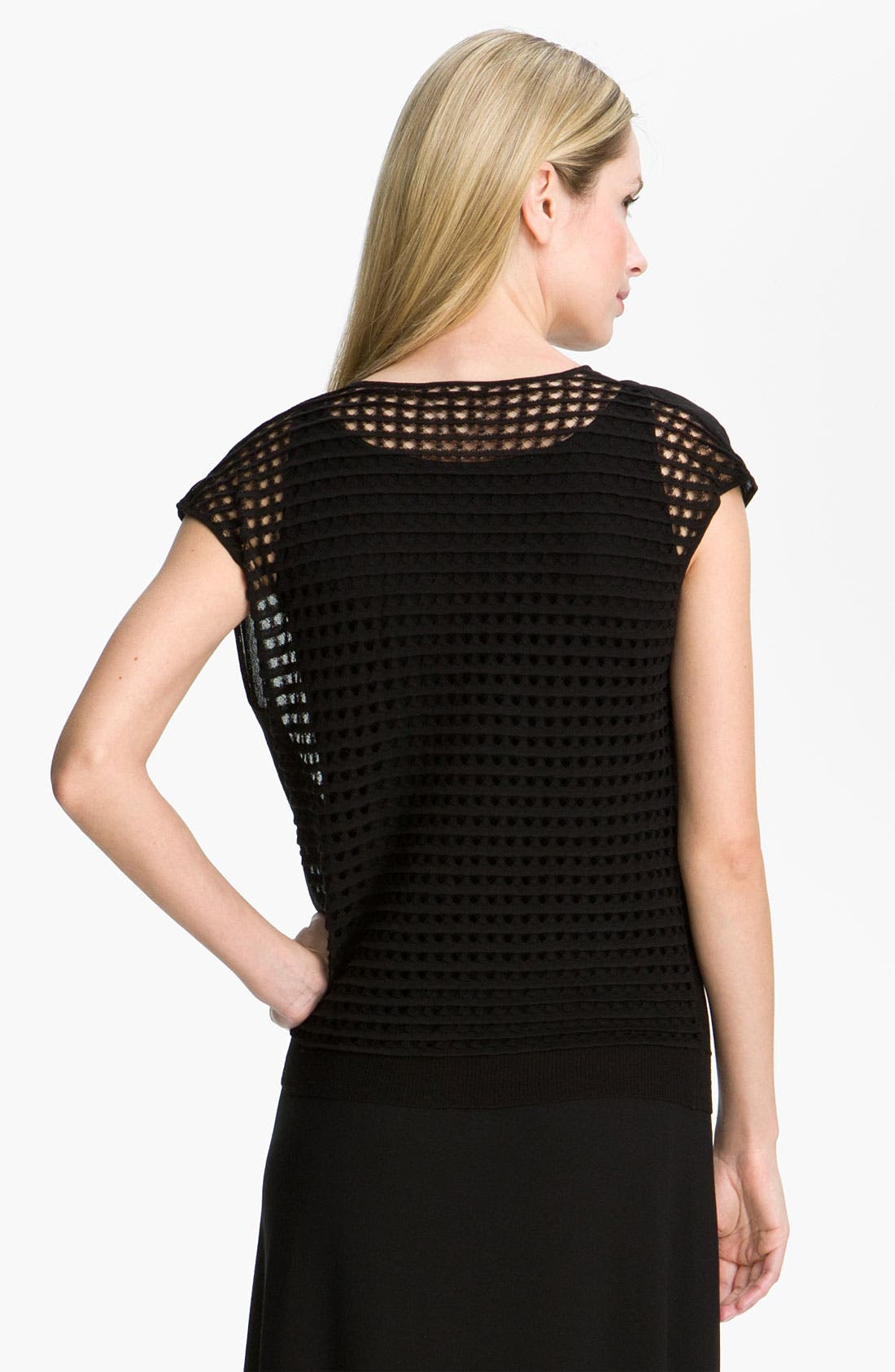 Alternate Image 2  - Eileen Fisher Drape Neck Mesh Back Top
