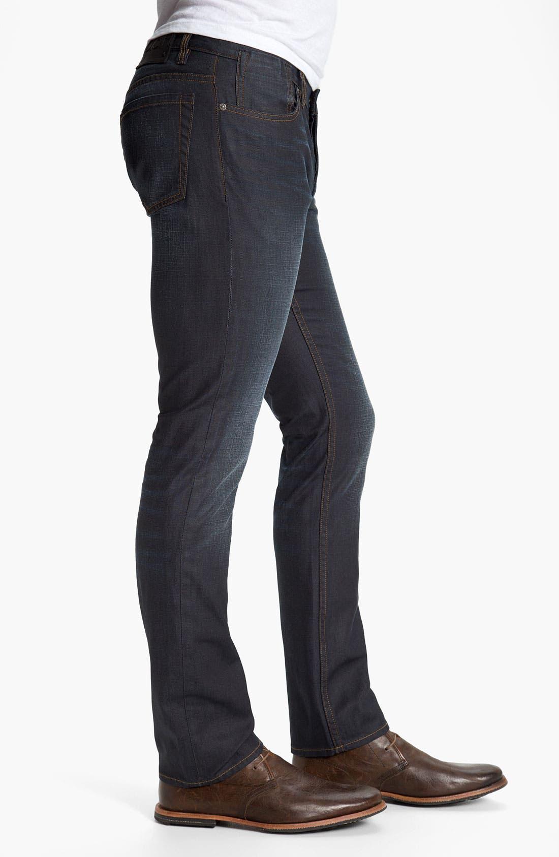 Alternate Image 3  - John Varvatos Star USA 'Bowery Brewester' Straight Leg Jeans (Oiled Blue)