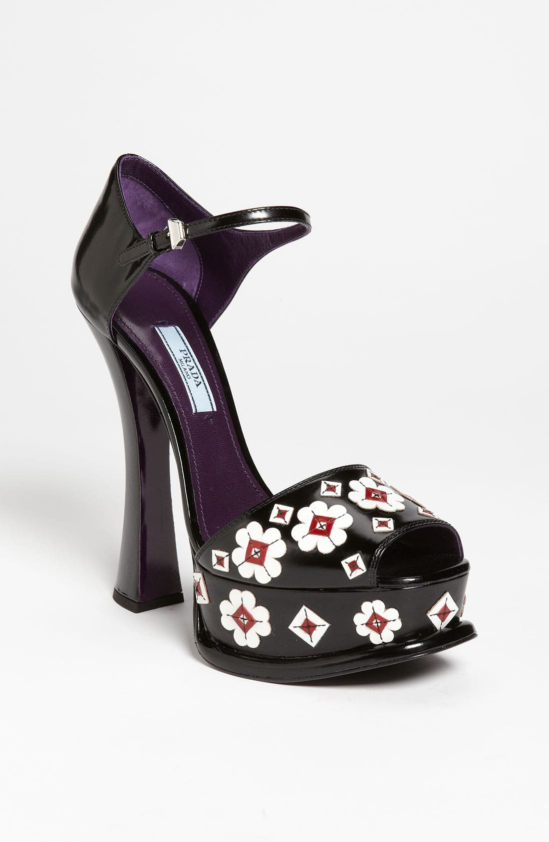 Main Image - Prada Flower Appliqué Sandal