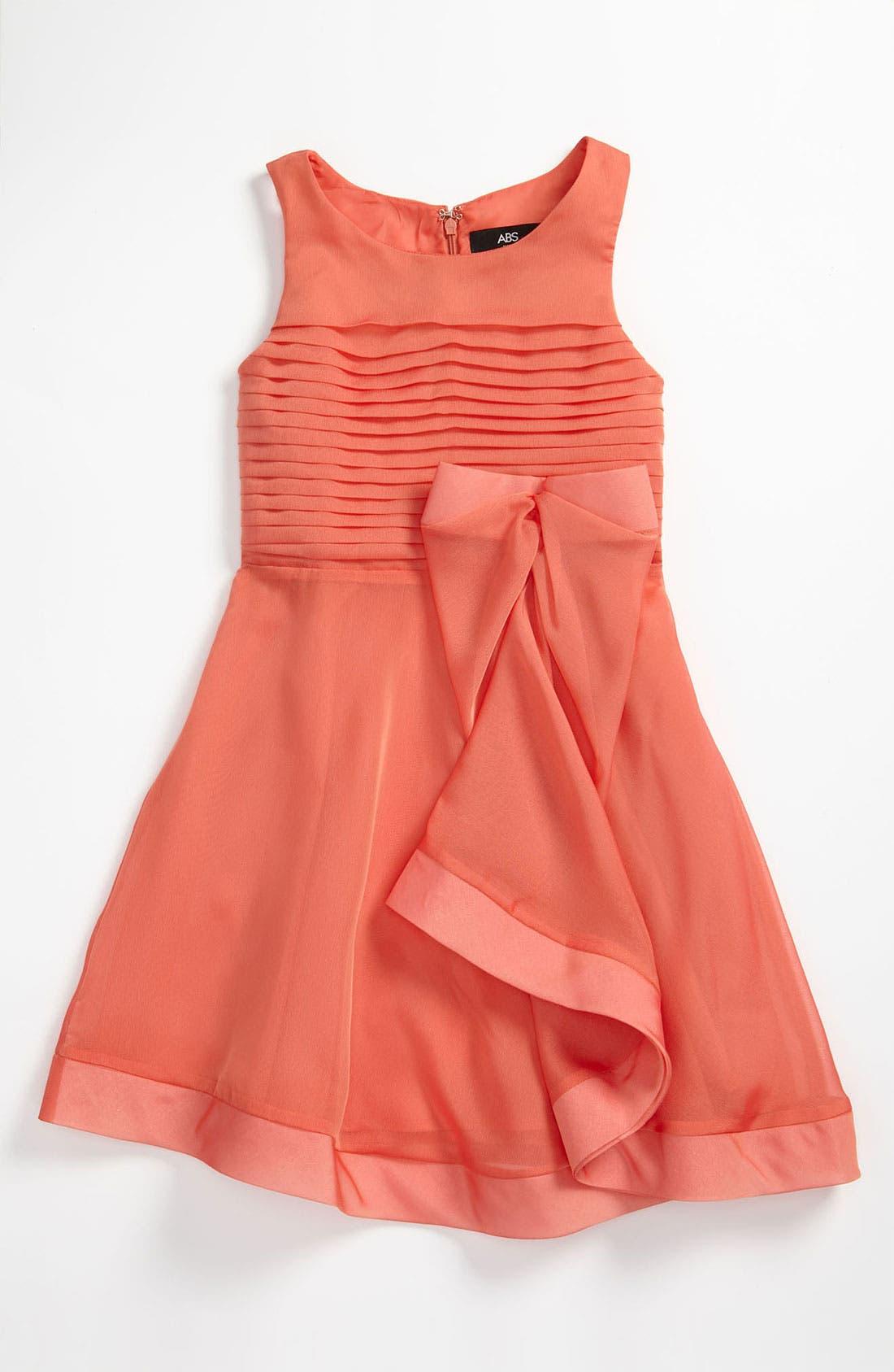 Main Image - ABS by Allen Schwartz Sleeveless Organza Dress (Big Girls)