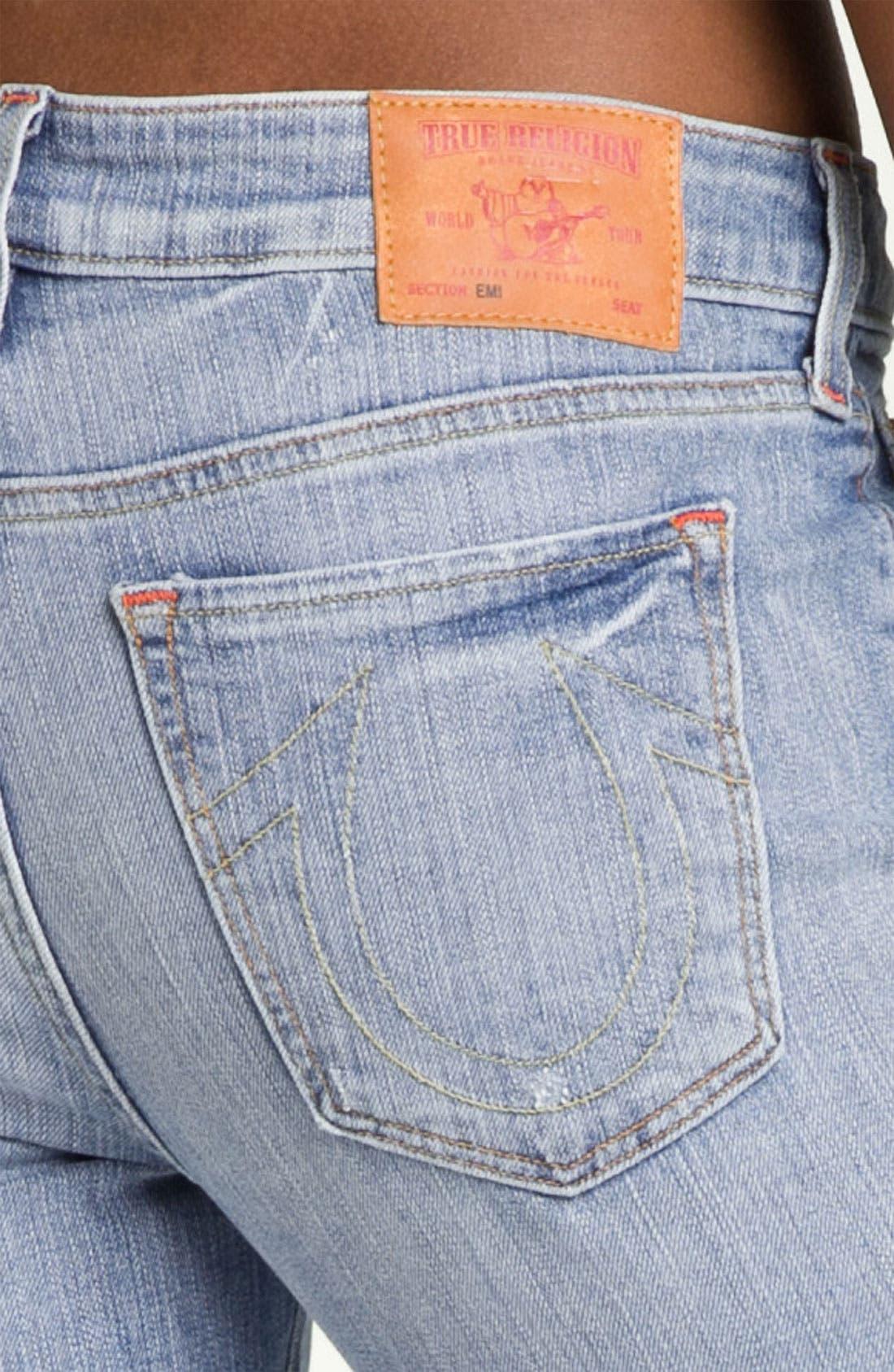 Alternate Image 3  - True Religion Brand Jeans 'Emi'' Distressed Flare Leg Jeans (Medium Drifter)