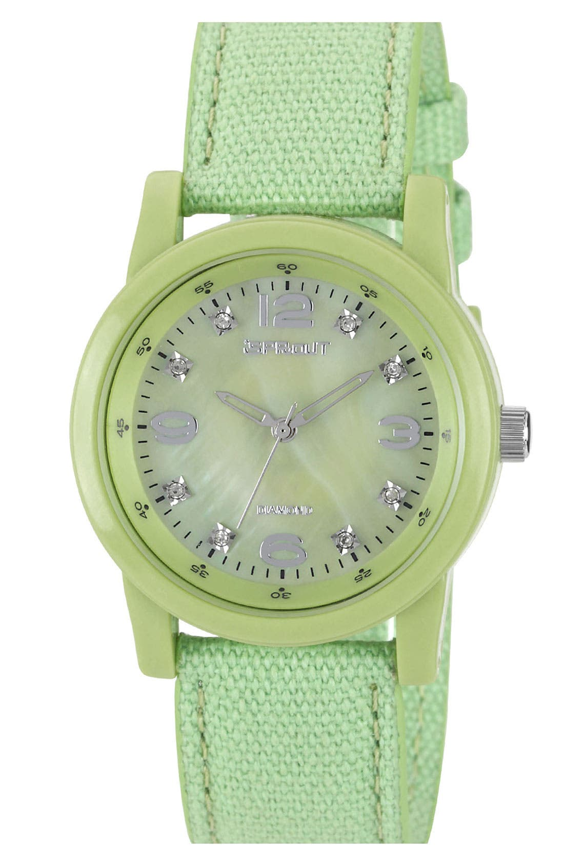 Alternate Image 1 Selected - SPROUT™ Watches Colored Mother-of-Pearl & Diamond Dial Watch