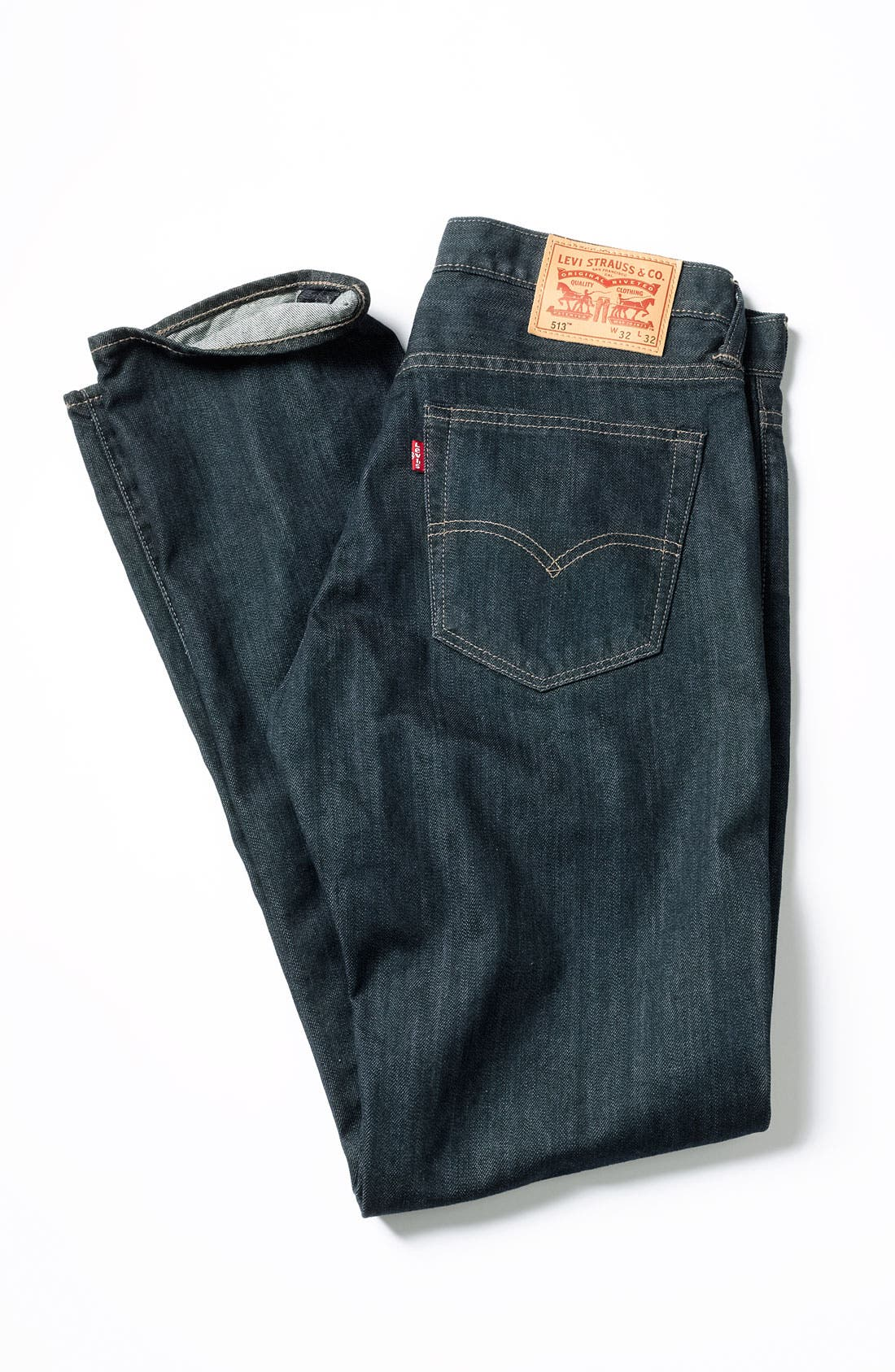 Alternate Image 7  - Levi's® '513™' Slim Straight Leg Jeans (Rumpled Rigid)