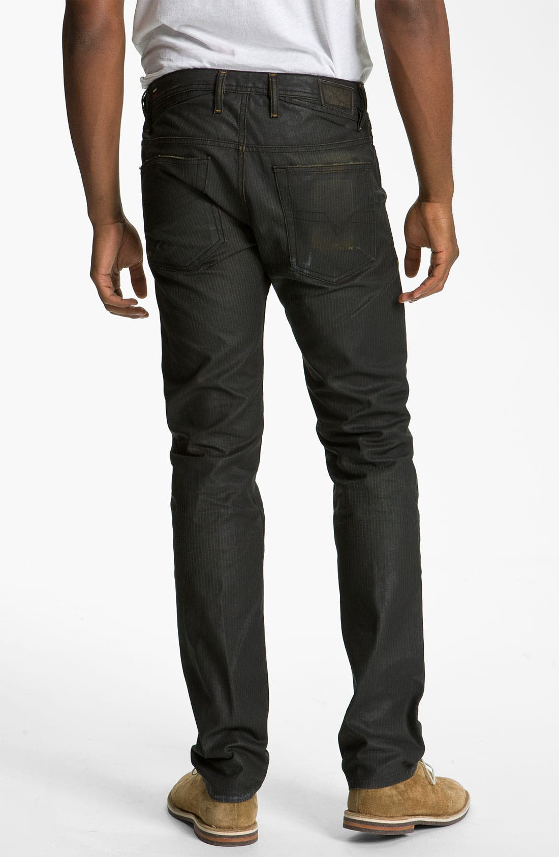 Alternate Image 1 Selected - DIESEL® 'Shioner' Coated Slim Skinny Leg Jeans (0804H)