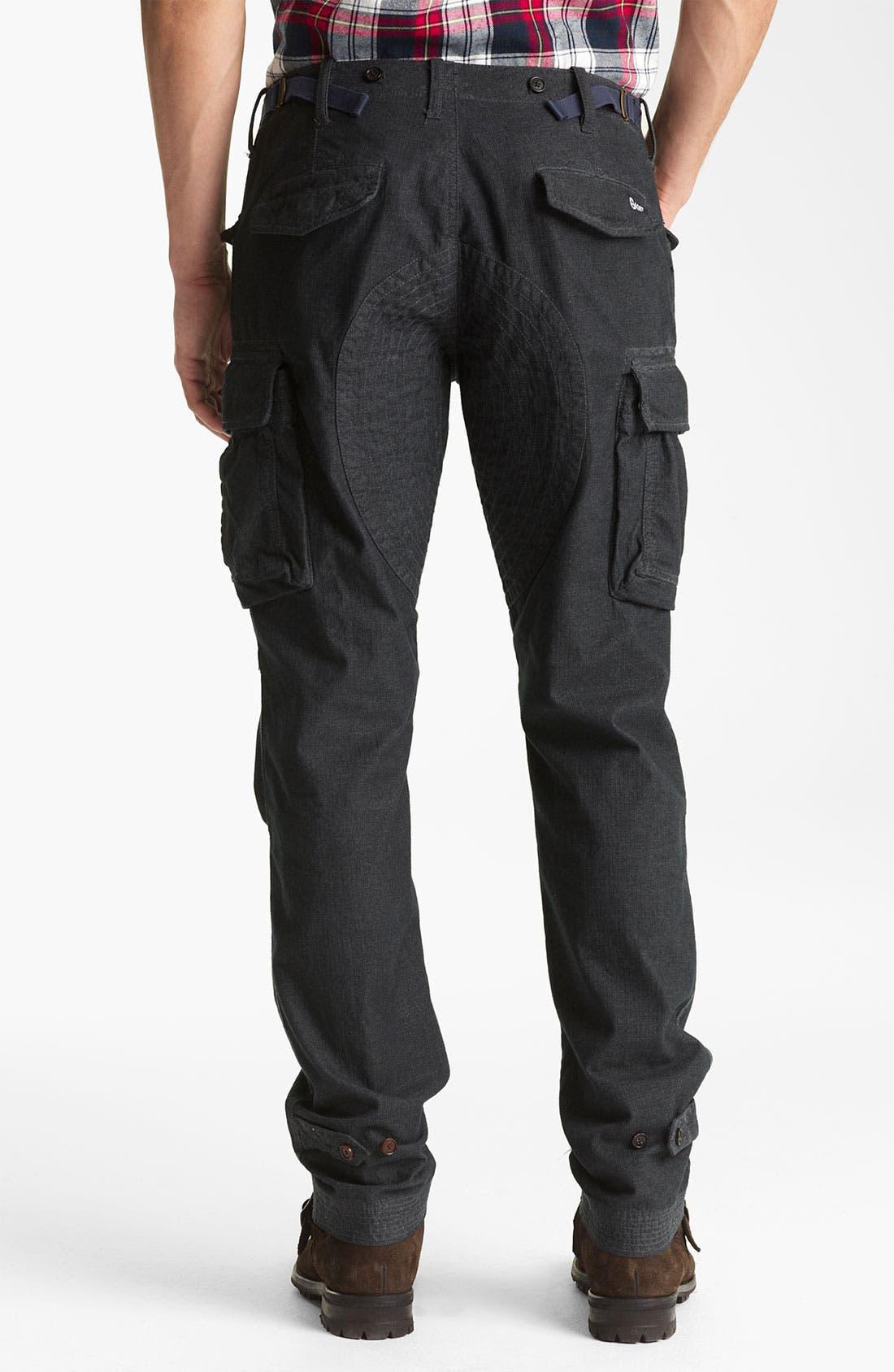 Alternate Image 2  - Gant by Michael Bastian Slim Fit Herringbone Cargo Pants