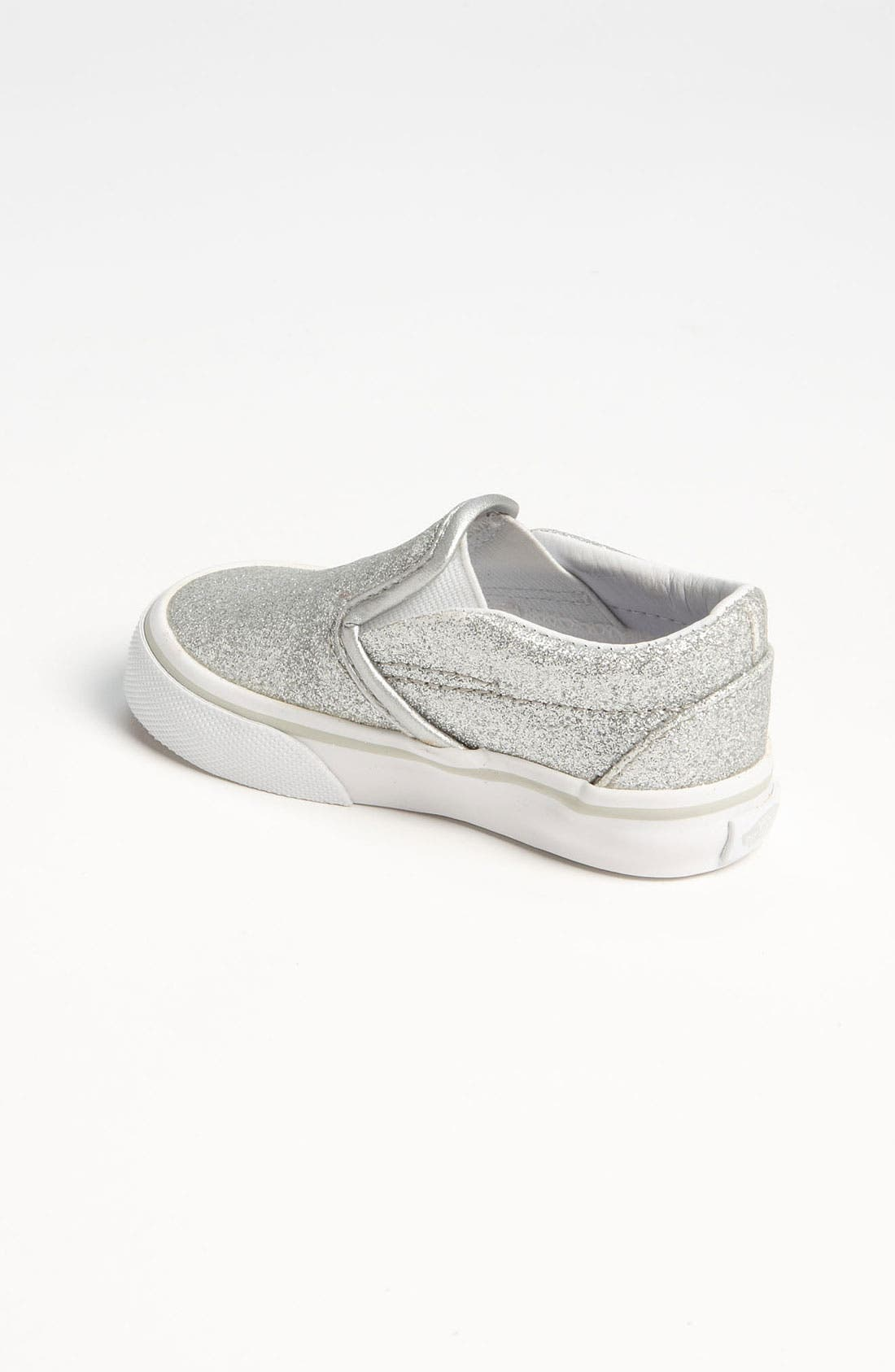 Alternate Image 2  - Vans 'Classic - Glitter' Slip-On (Baby, Walker & Toddler)