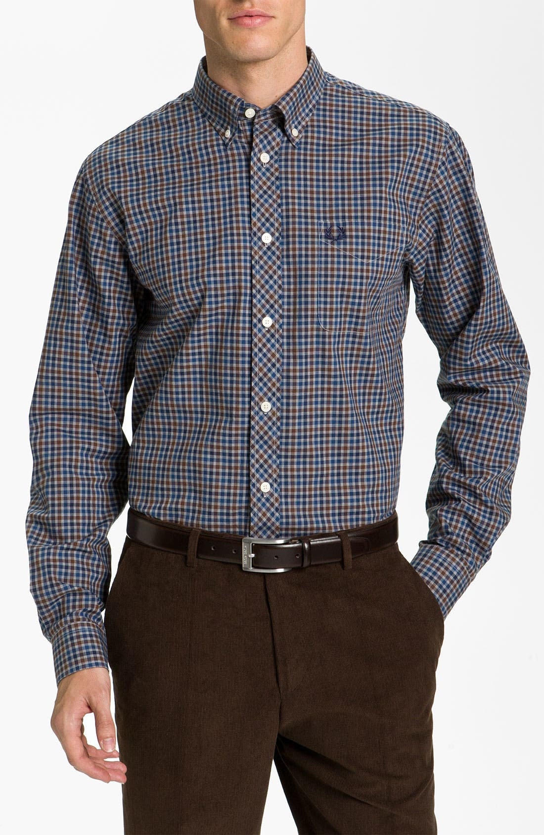 Alternate Image 1 Selected - Fred Perry Check Sport Shirt