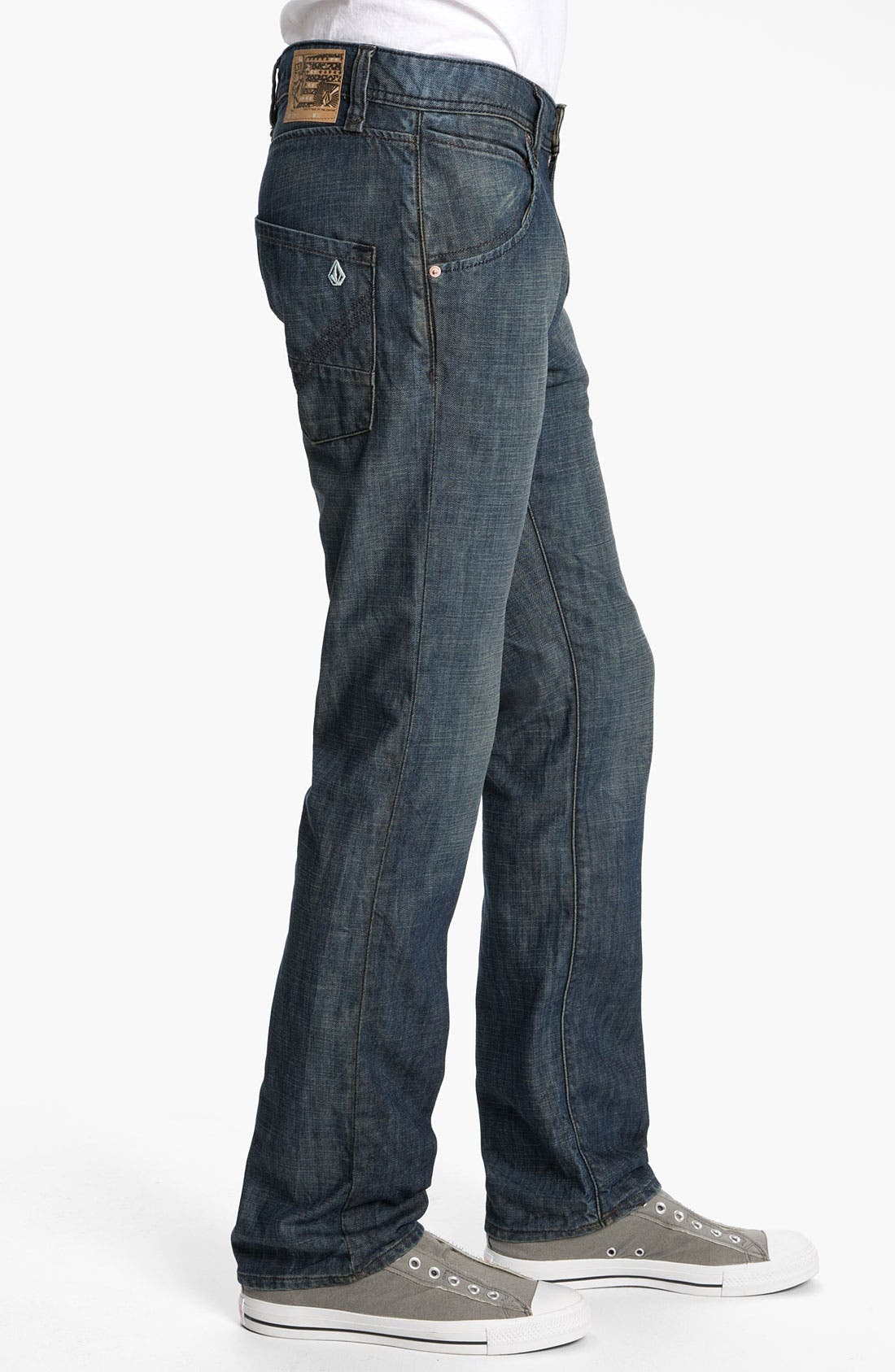 Alternate Image 3  - Volcom 'Nova' Slim Straight Leg Jeans (Naz) (Online Only)