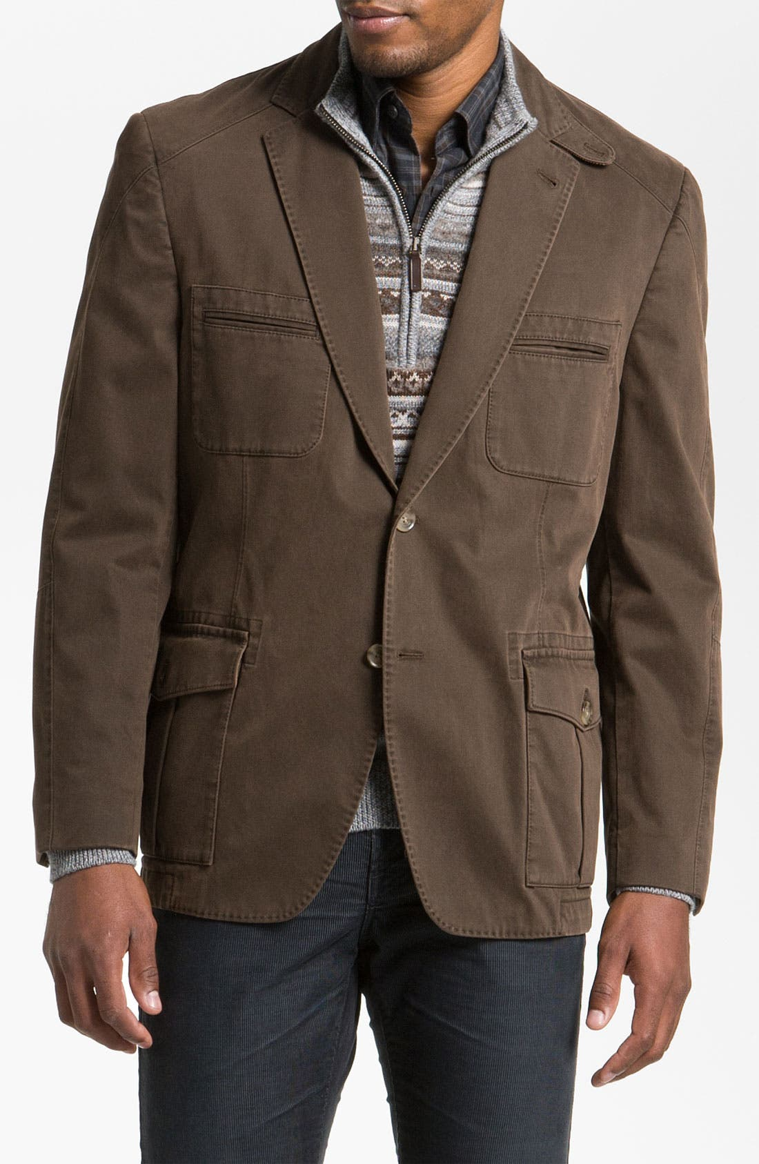 Main Image - Kroon 'Matthews' Brushed Cotton Sportcoat