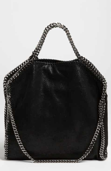 Stella Mccartney Falabella Gy Deer Faux Leather Foldover Tote