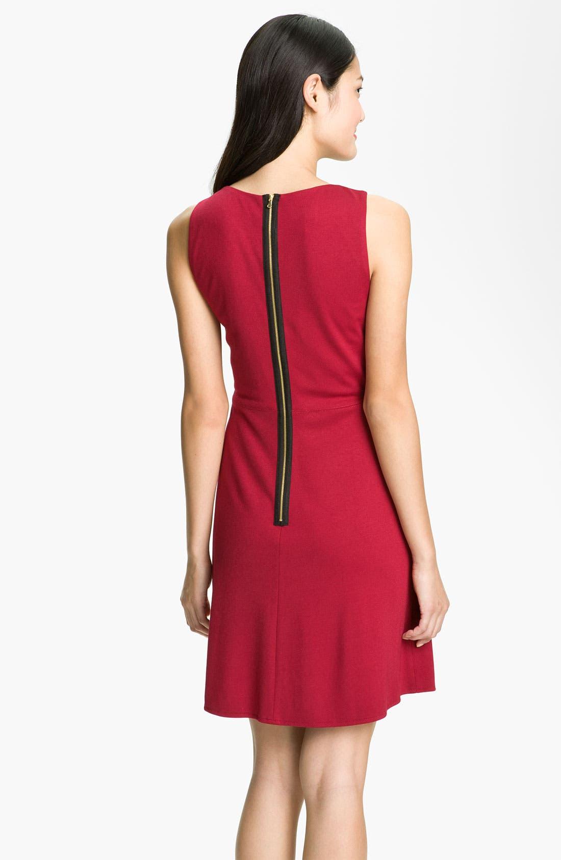 Alternate Image 2  - Donna Morgan 'Mod' Exposed Zipper Fit & Flare Dress
