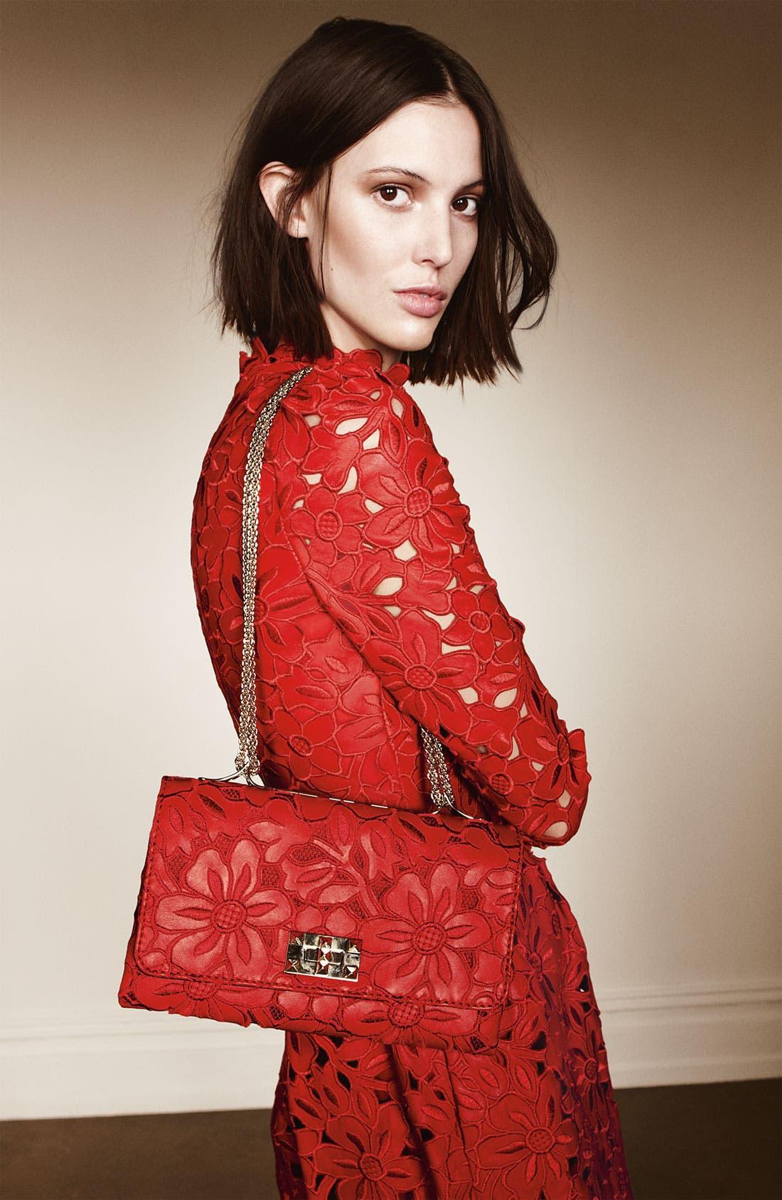 Alternate Image 5  - Valentino 'Girello Flap' Leather Shoulder Bag