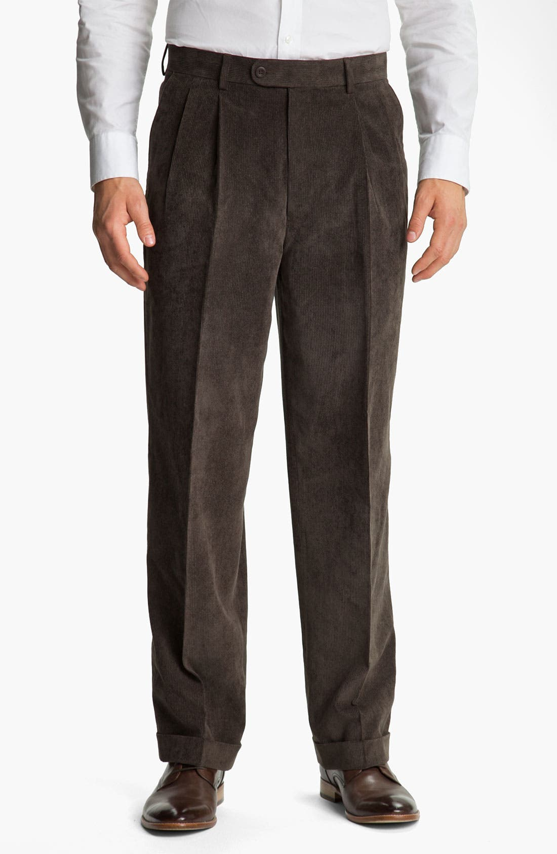 Alternate Image 1 Selected - Linea Naturale 'Micro-Aire' Corduroy Trousers