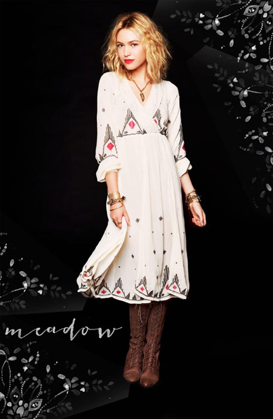 Alternate Image 4  - Free People 'Splendor' Embroidered Peasant Dress