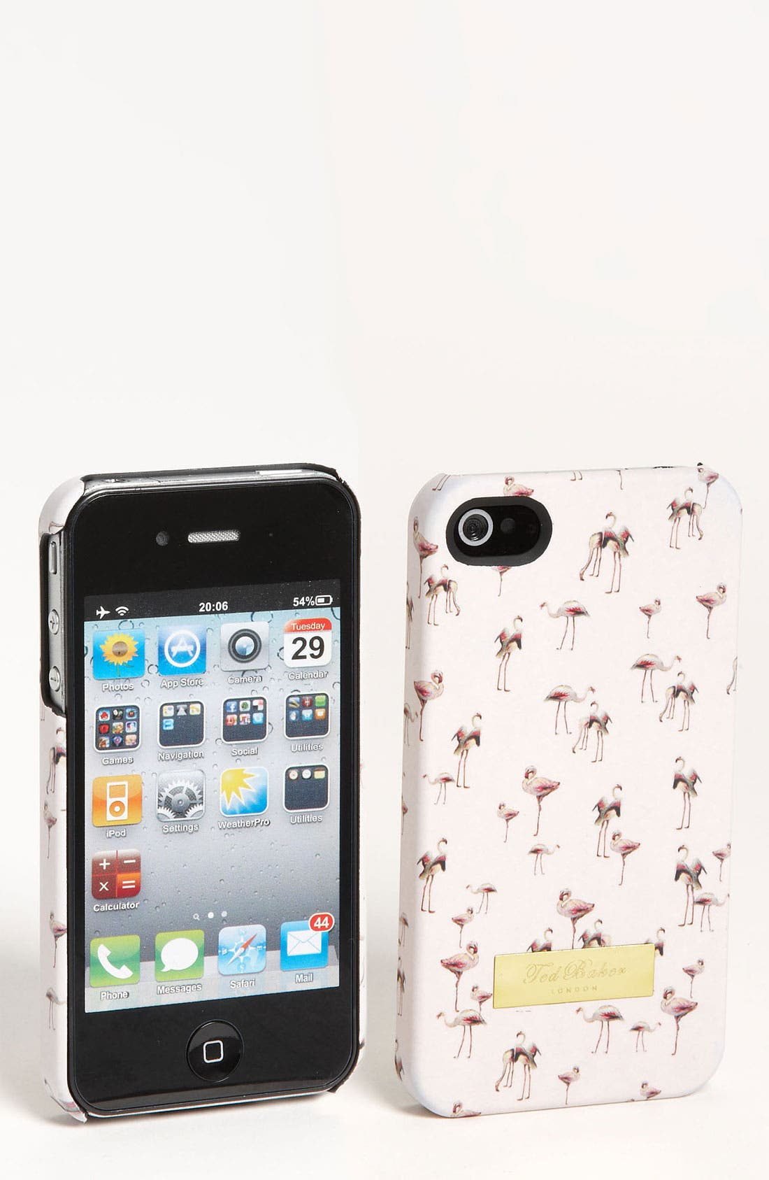 Alternate Image 1 Selected - Ted Baker London 'Flamingo Print' iPhone 4 Case