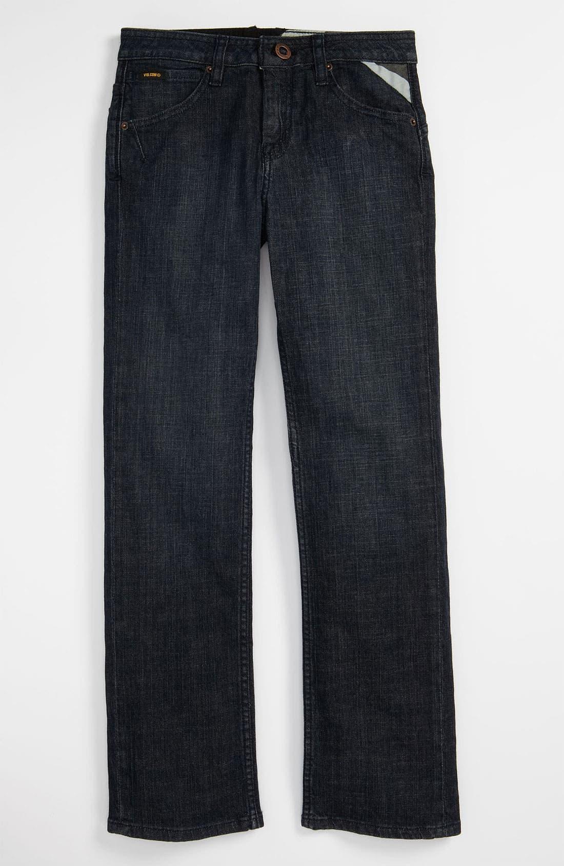 Alternate Image 2  - Volcom 'Enowen' Straight Leg Jeans (Big Boys)