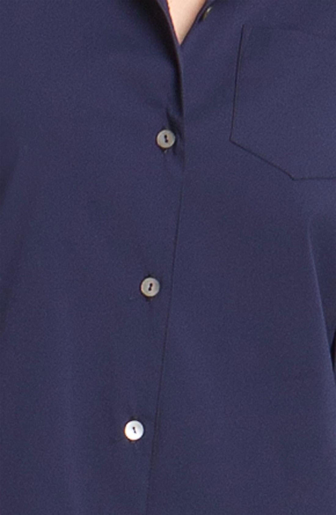 Alternate Image 3  - Theory 'Madlaina - Luxe' Shirtdress