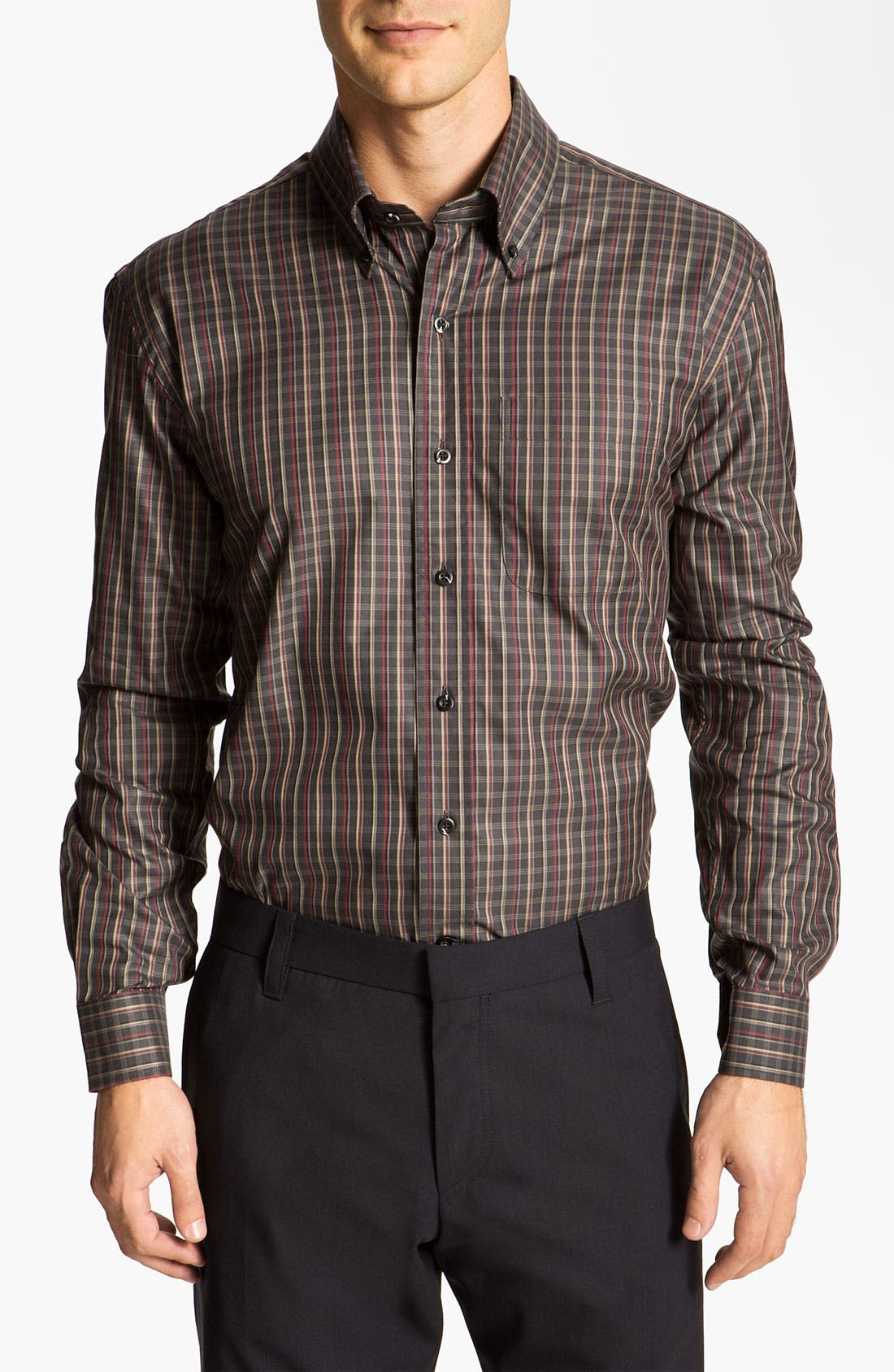 Alternate Image 1 Selected - Cutter & Buck 'Kennewick' Plaid Sport Shirt