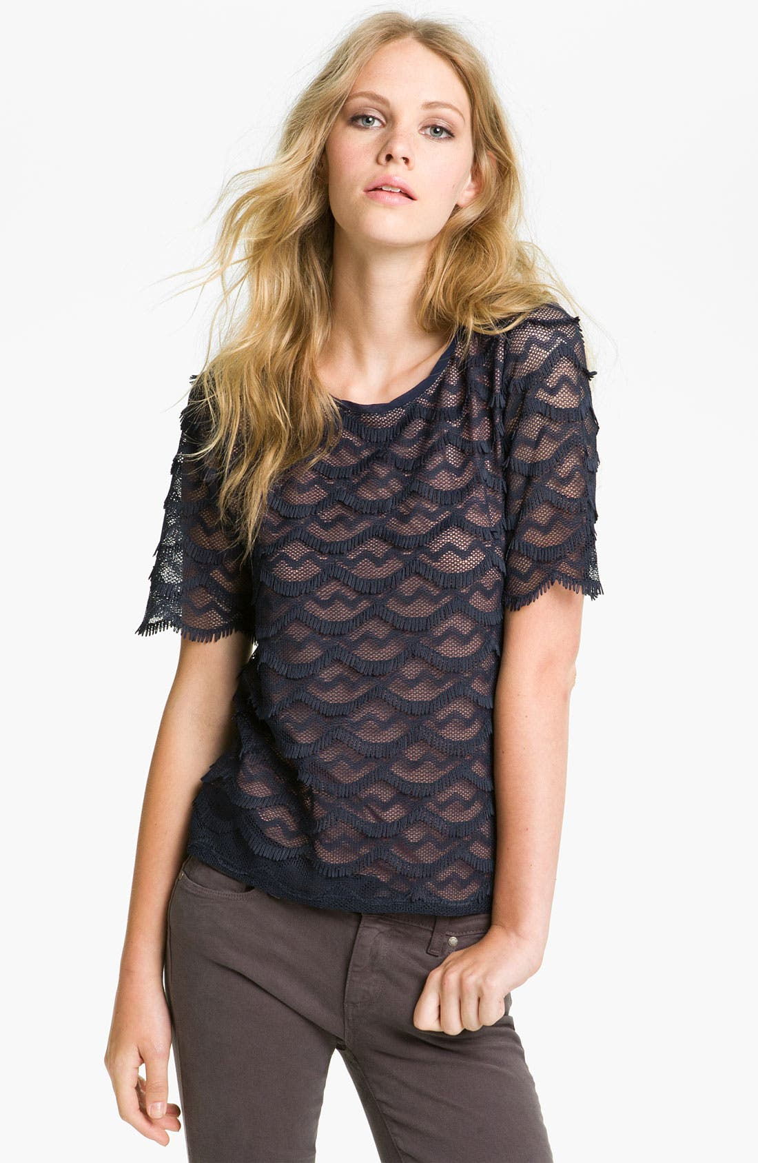 Alternate Image 1 Selected - Sanctuary Scalloped Lace Top