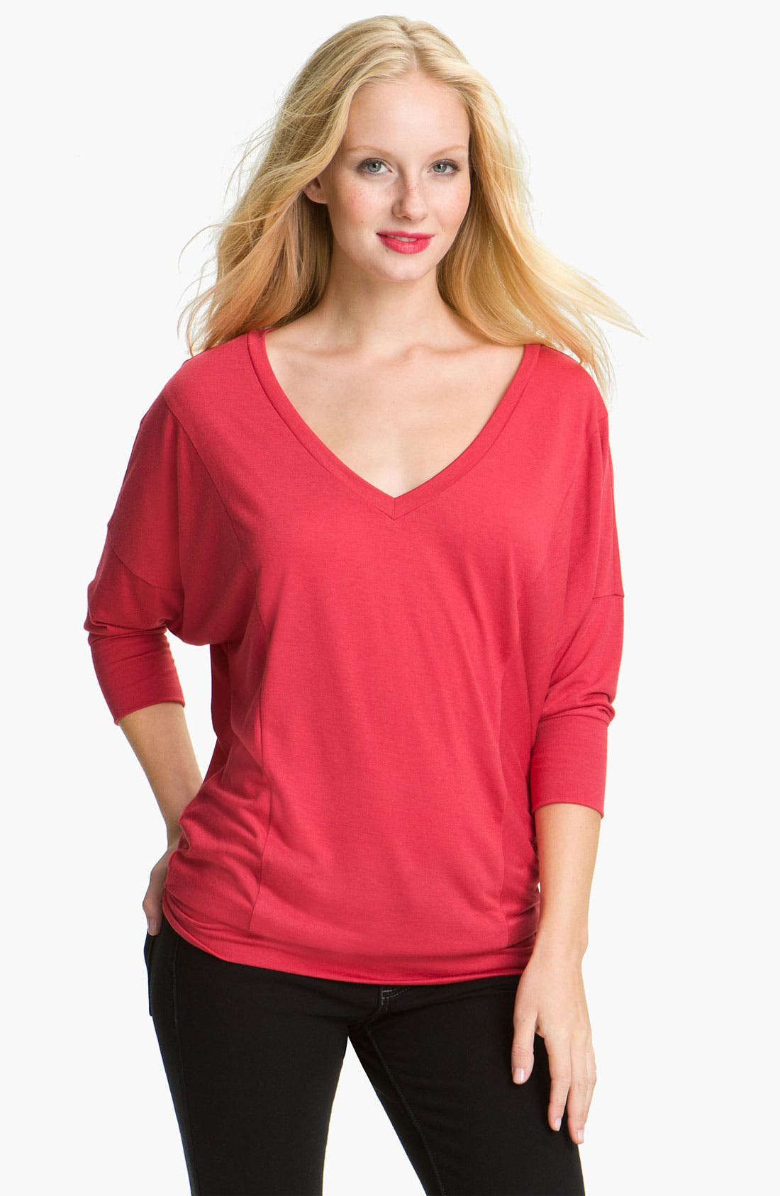 Alternate Image 1 Selected - Caslon® Dolman Sleeve Jersey Top