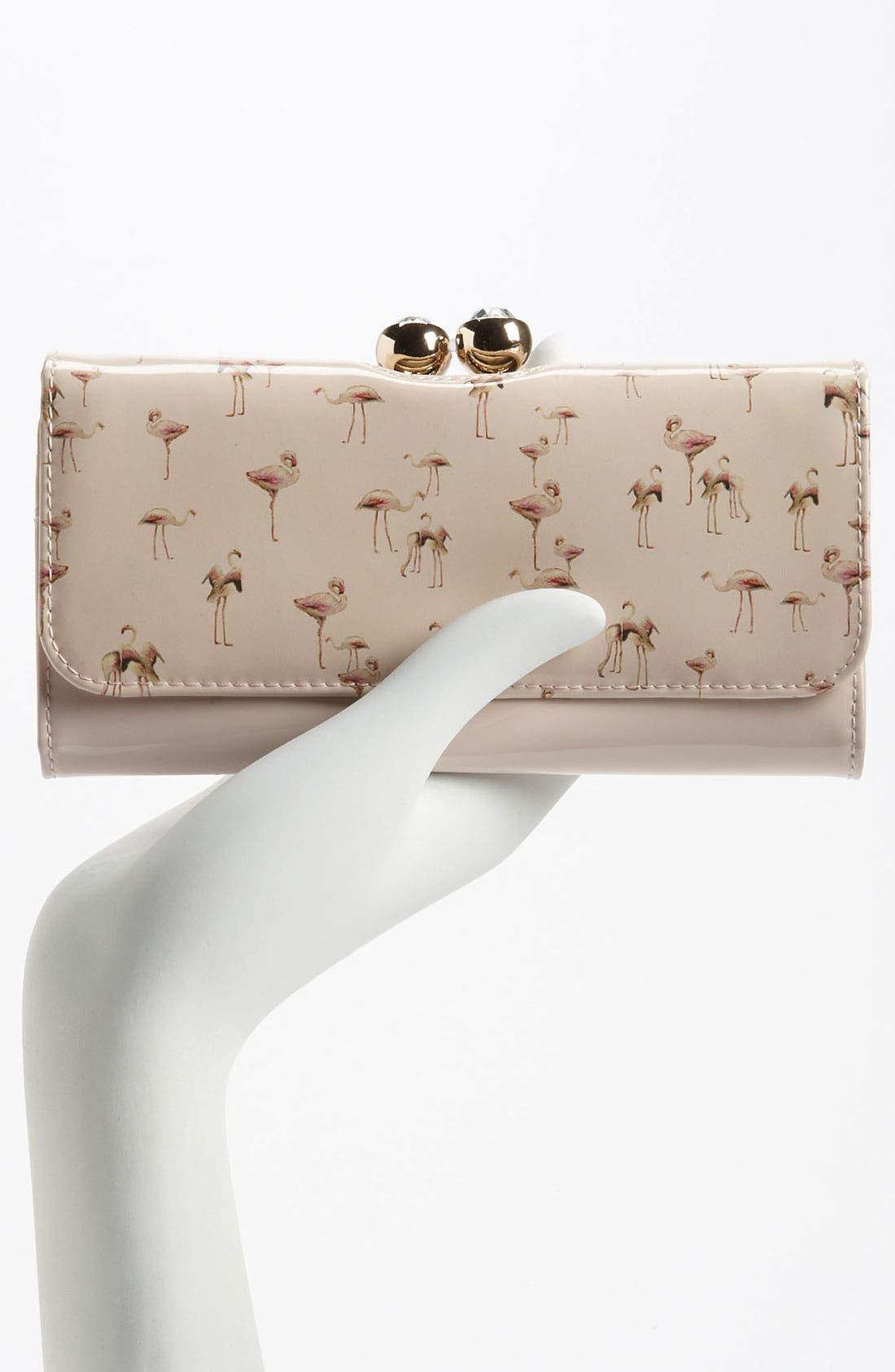 Alternate Image 2  - Ted Baker London 'Flamingo Print' Matinee Wallet