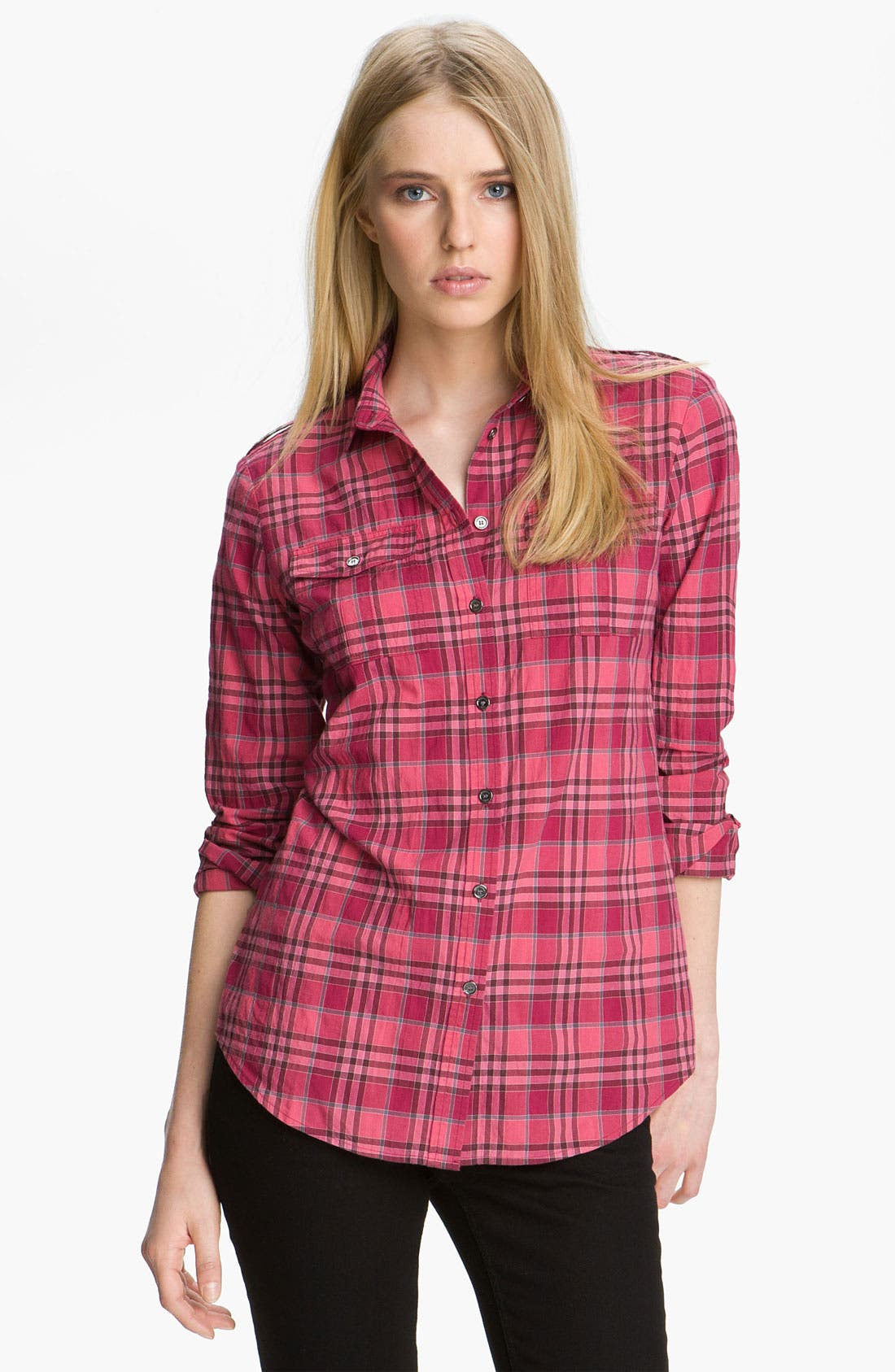 Alternate Image 1 Selected - Burberry Brit Woven Check Shirt