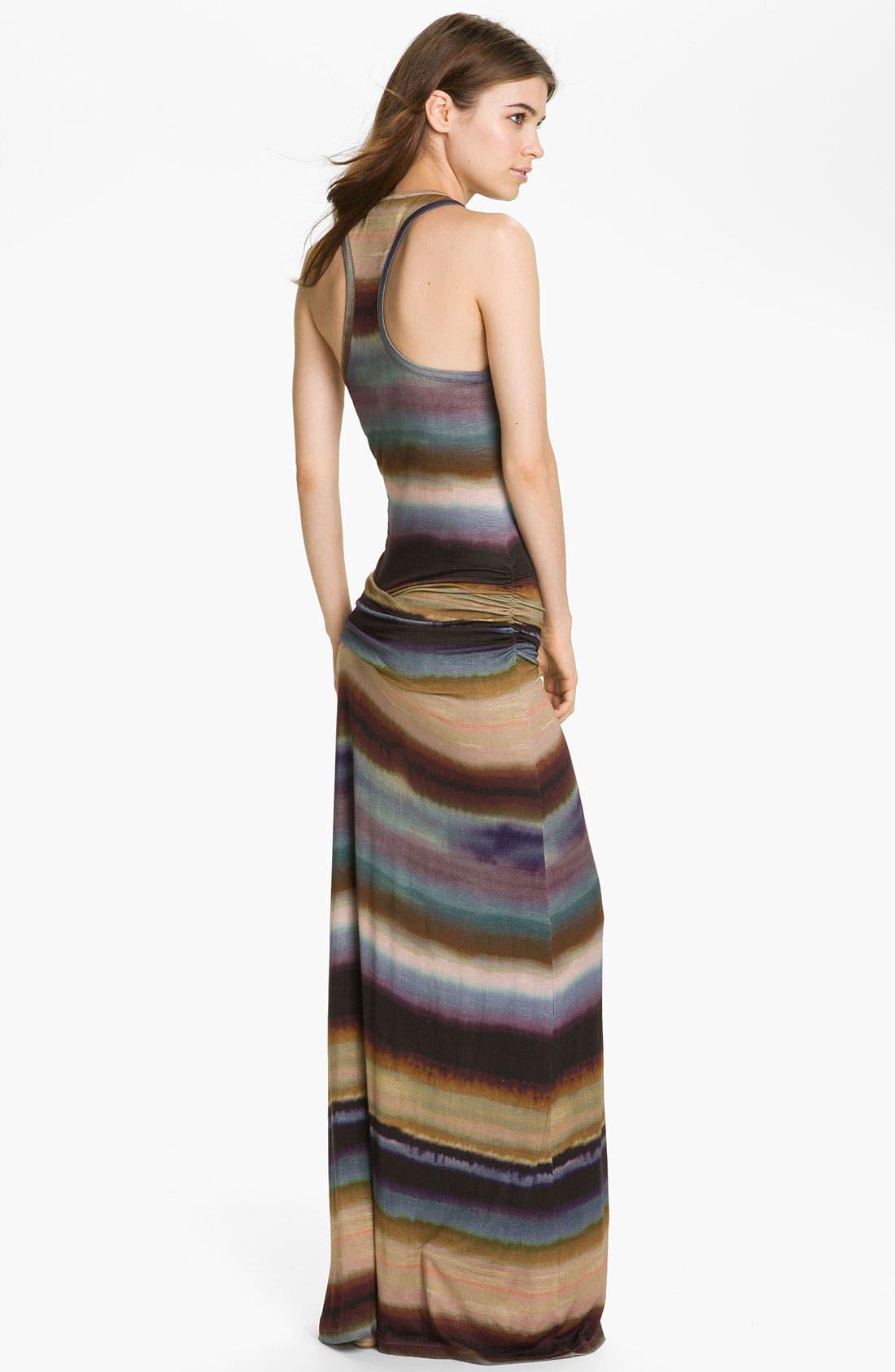 Alternate Image 2  - Young, Fabulous & Broke 'Hamptons' Tie Dyed Stripe Maxi Dress
