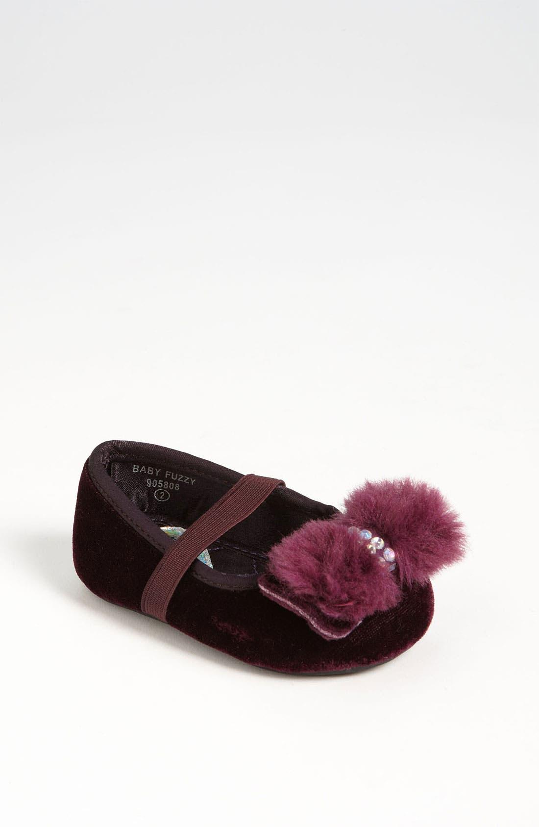 Main Image - Stuart Weitzman 'Baby Furry' Crib Shoe (Baby)