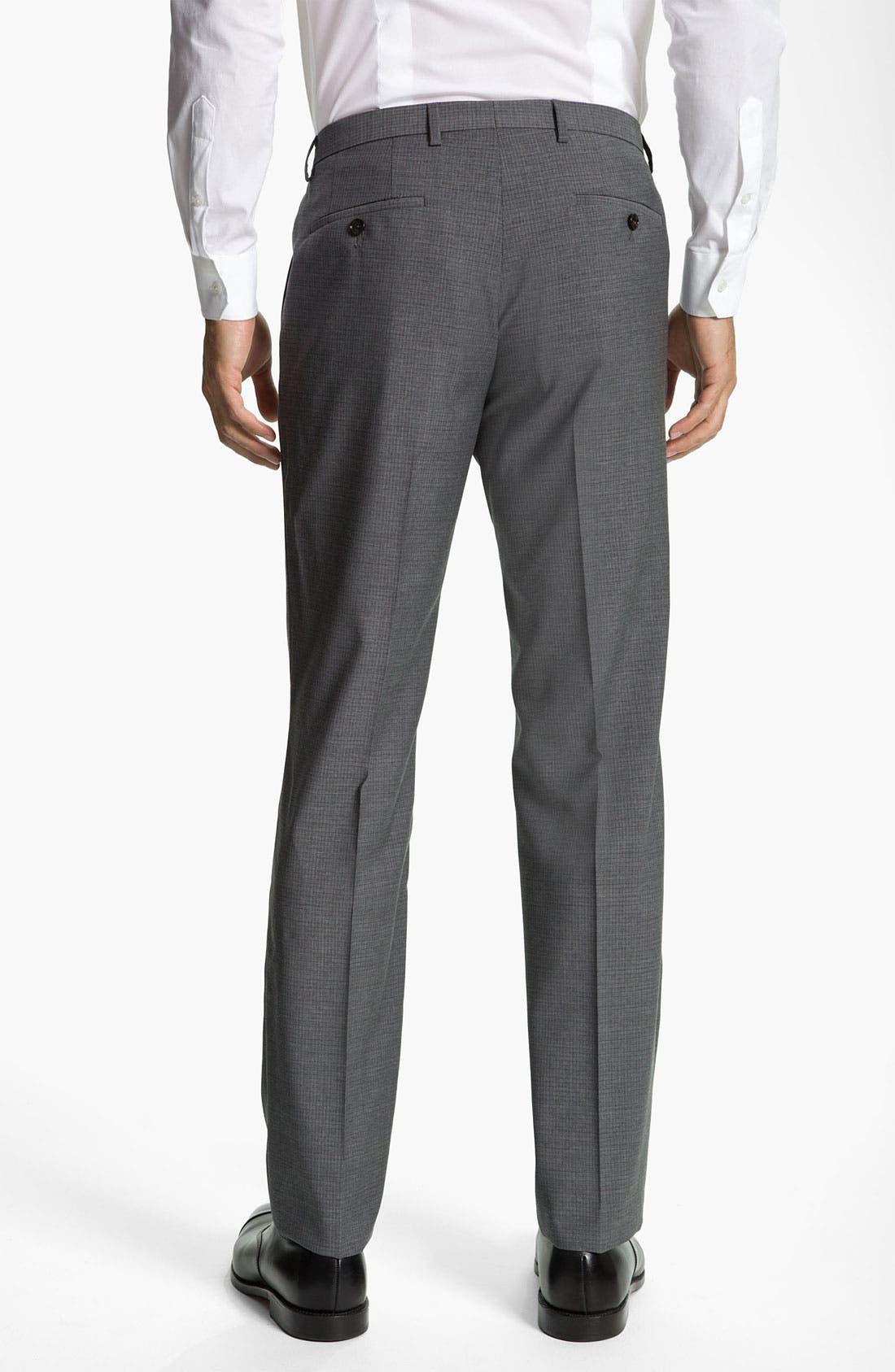 Alternate Image 2  - BOSS Black 'Sharp' Grid Check Wool Trousers