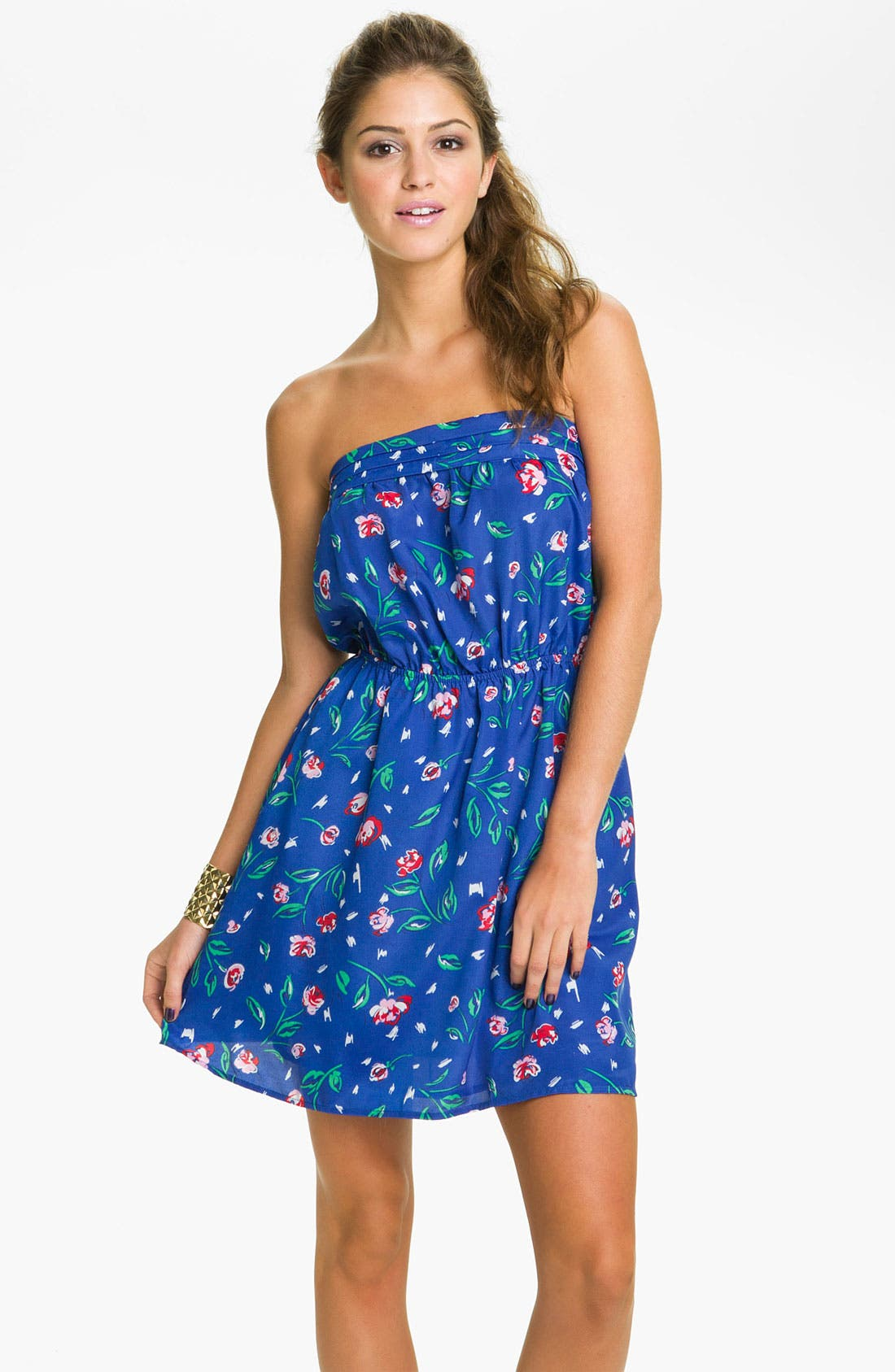 Alternate Image 1 Selected - Mimi Chica Strapless Dress (Juniors)