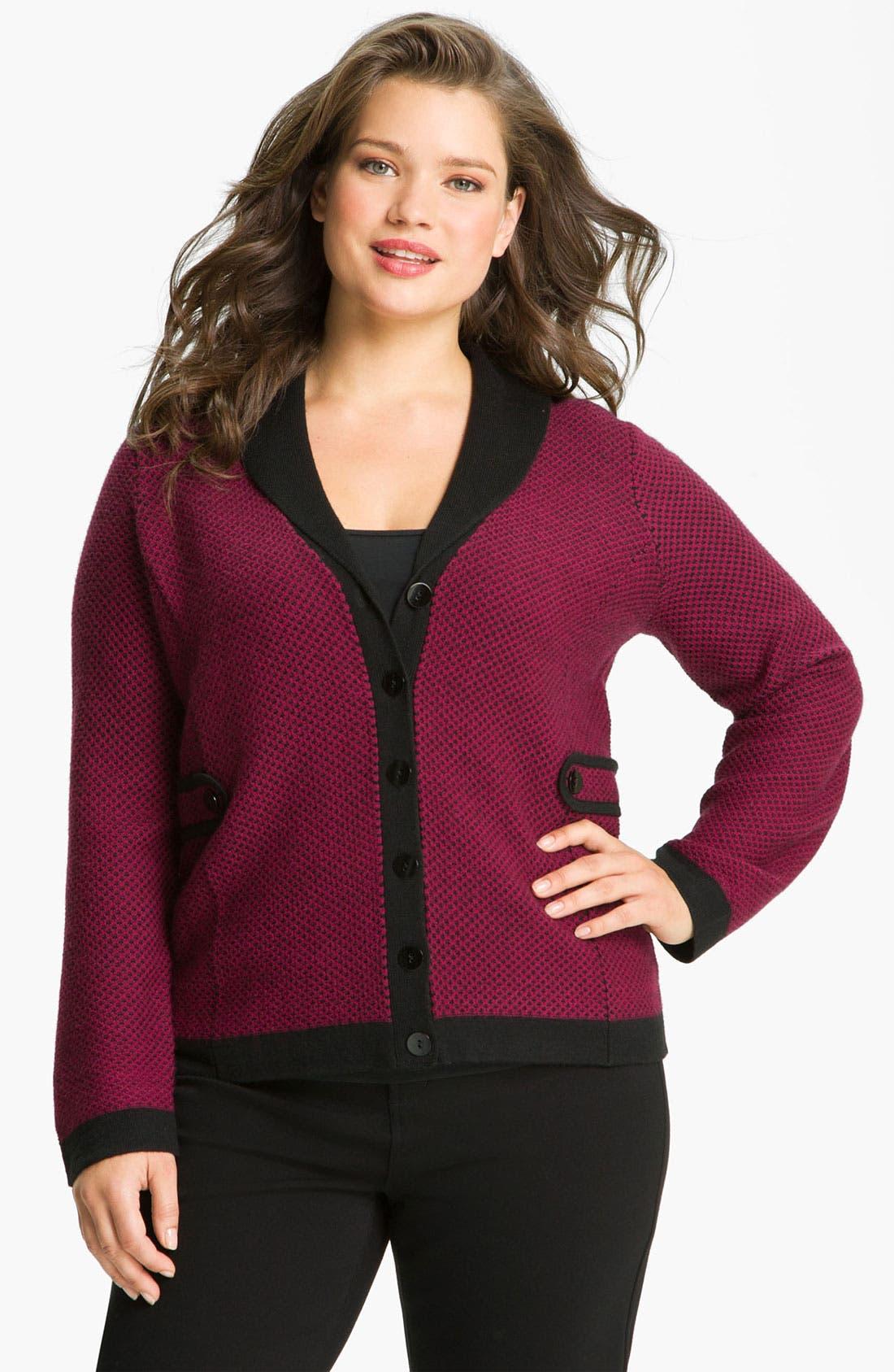 Main Image - Sejour Shawl Collar Sweater Jacket (Plus)