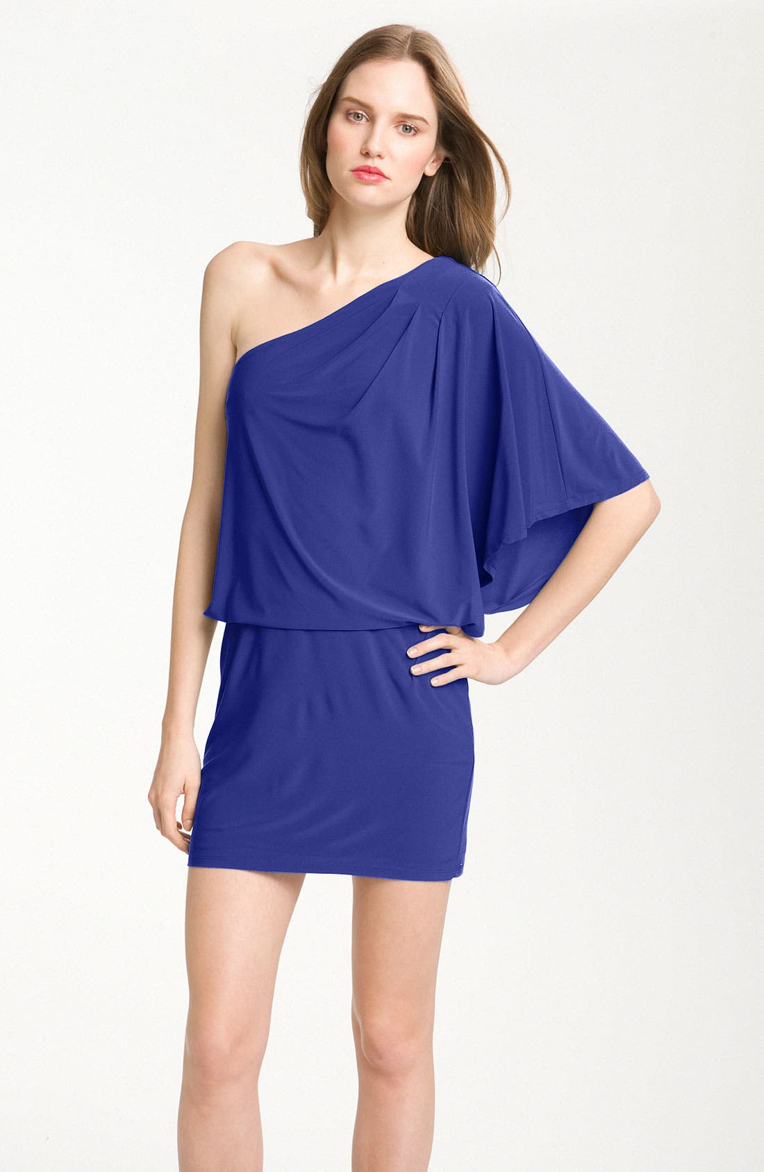 Alternate Image 1 Selected - Jessica Simpson One-Shoulder Jersey Minidress