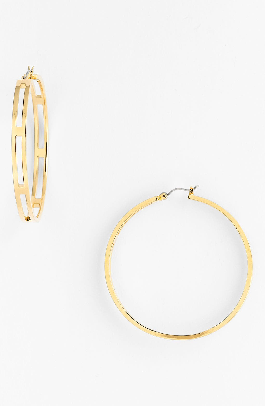 Main Image - Vince Camuto 'Basics' Cutout Hoop Earrings