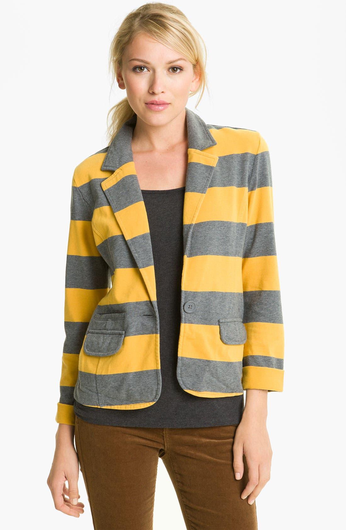 Main Image - Caslon® Stripe Knit Blazer