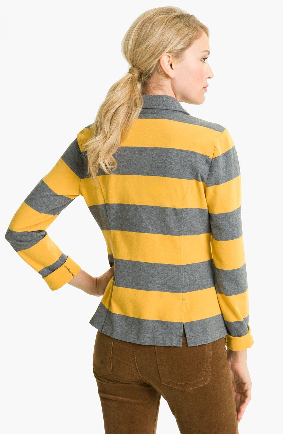 Alternate Image 2  - Caslon® Stripe Knit Blazer