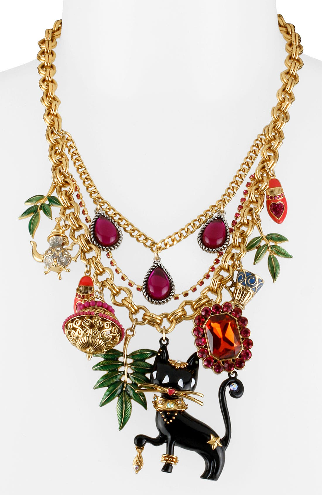 Alternate Image 1 Selected - Betsey Johnson 'Morocco Adventure' Multistrand Necklace