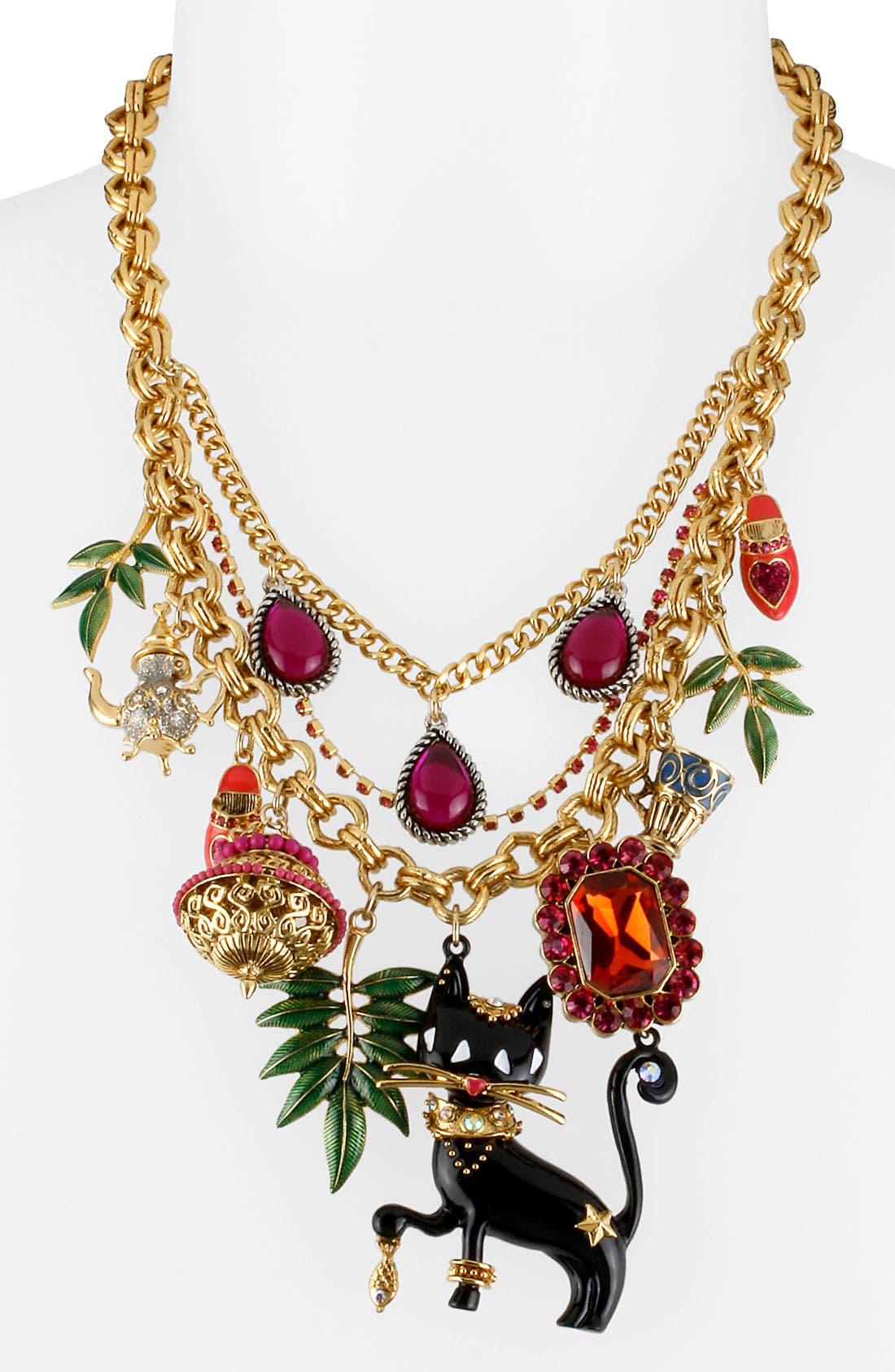 Main Image - Betsey Johnson 'Morocco Adventure' Multistrand Necklace