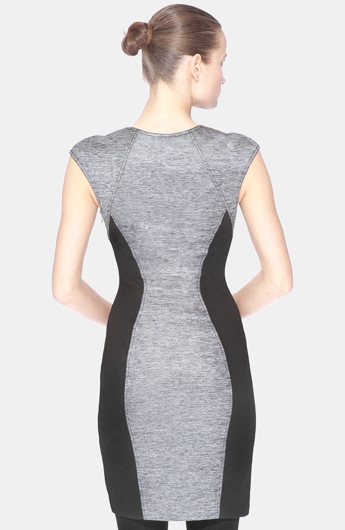 Alternate Image 2  - Marc New York Contrast Inset Mixed Media Sheath Dress
