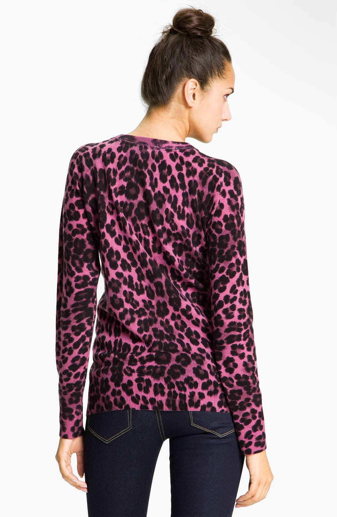 Alternate Image 2  - Juicy Couture Leopard Print V-Neck Sweater