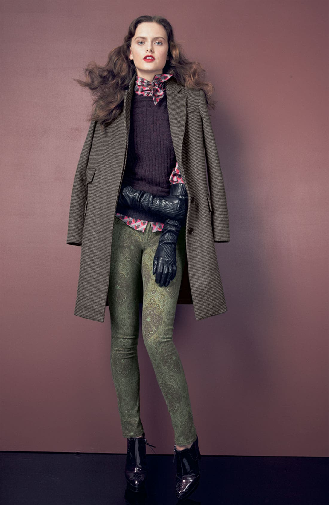 Main Image - MARC BY MARC JACOBS Coat, Sweater, Blouse & Paige Skinny Jeans