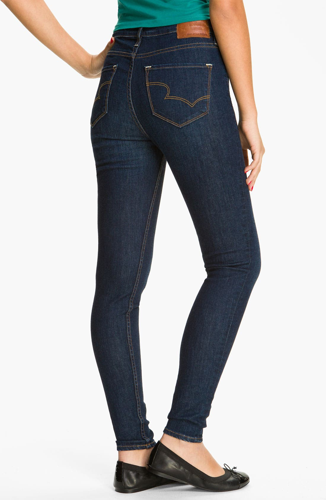 Main Image - Big Star 'Avalon' Skinny Jeans (Flux) (Juniors)