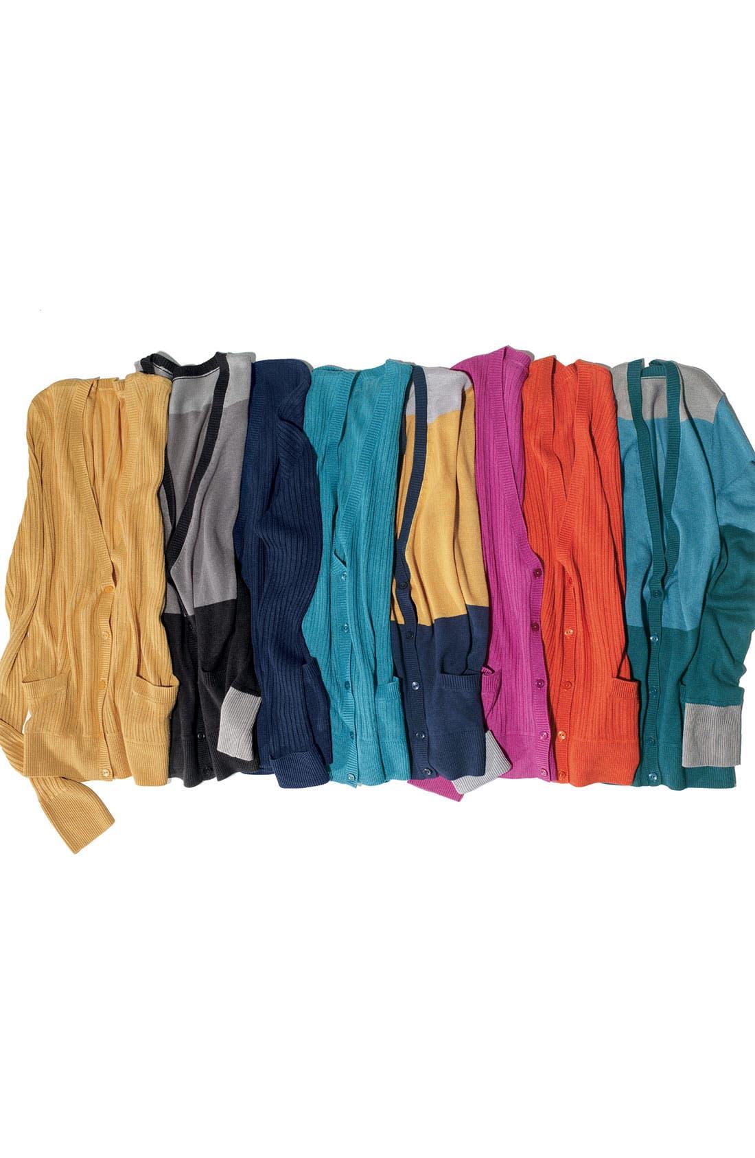 Alternate Image 2  - Halogen® Colorblock V-Neck Cardigan